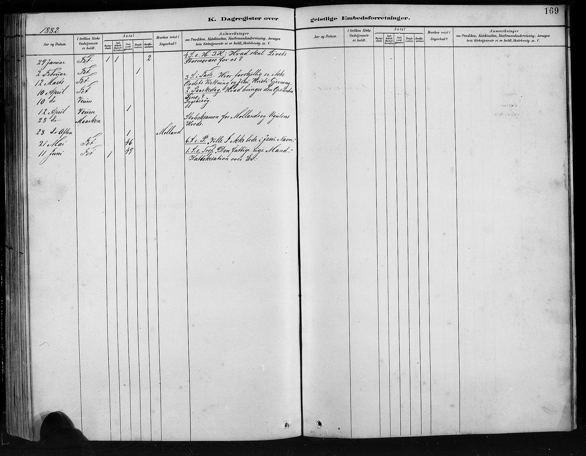 SAB, Jostedal sokneprestembete, H/Hab/Habb/L0001: Klokkerbok nr. B 1, 1882-1921, s. 169