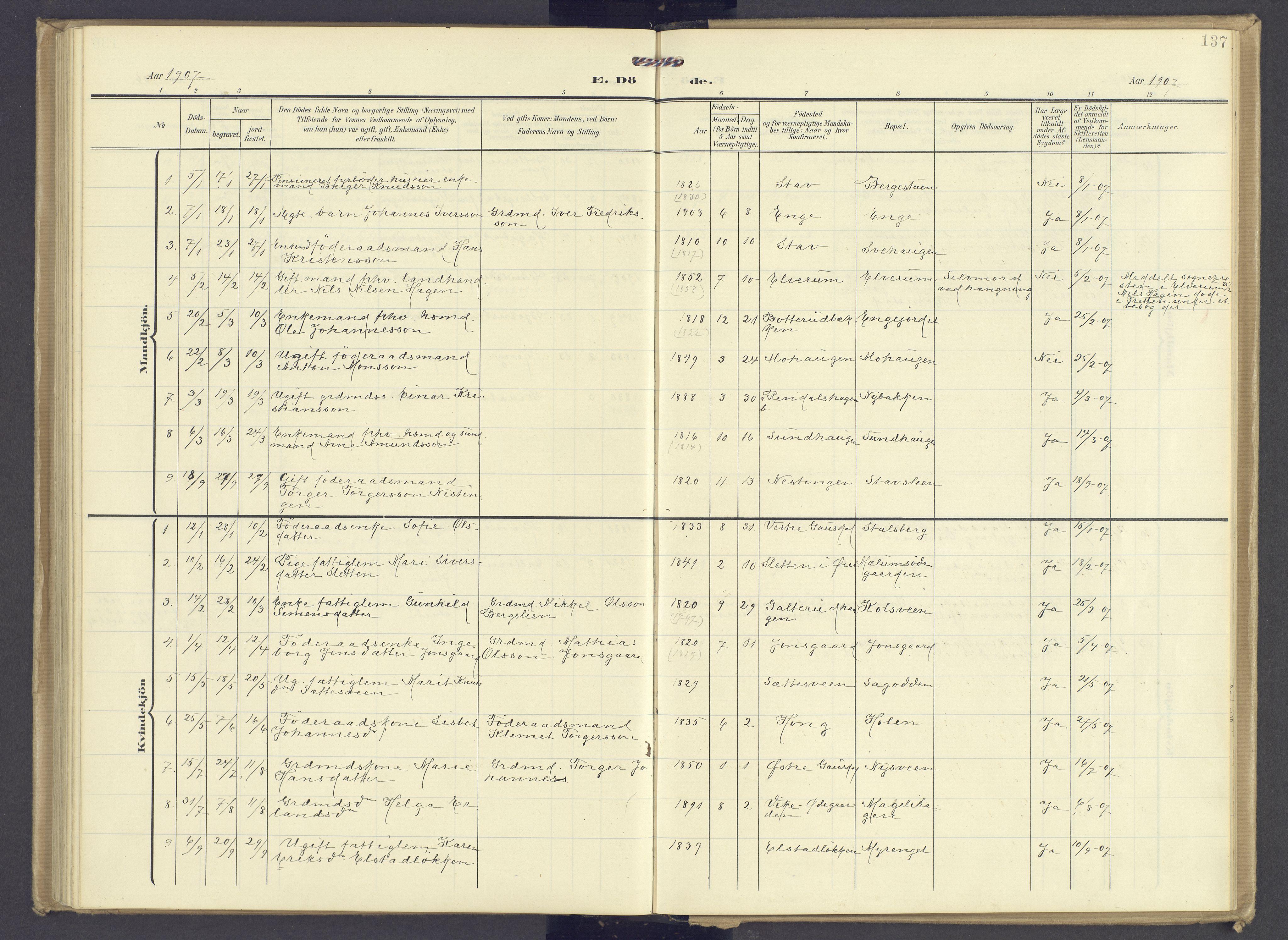 SAH, Øyer prestekontor, Ministerialbok nr. 13, 1905-1920, s. 137