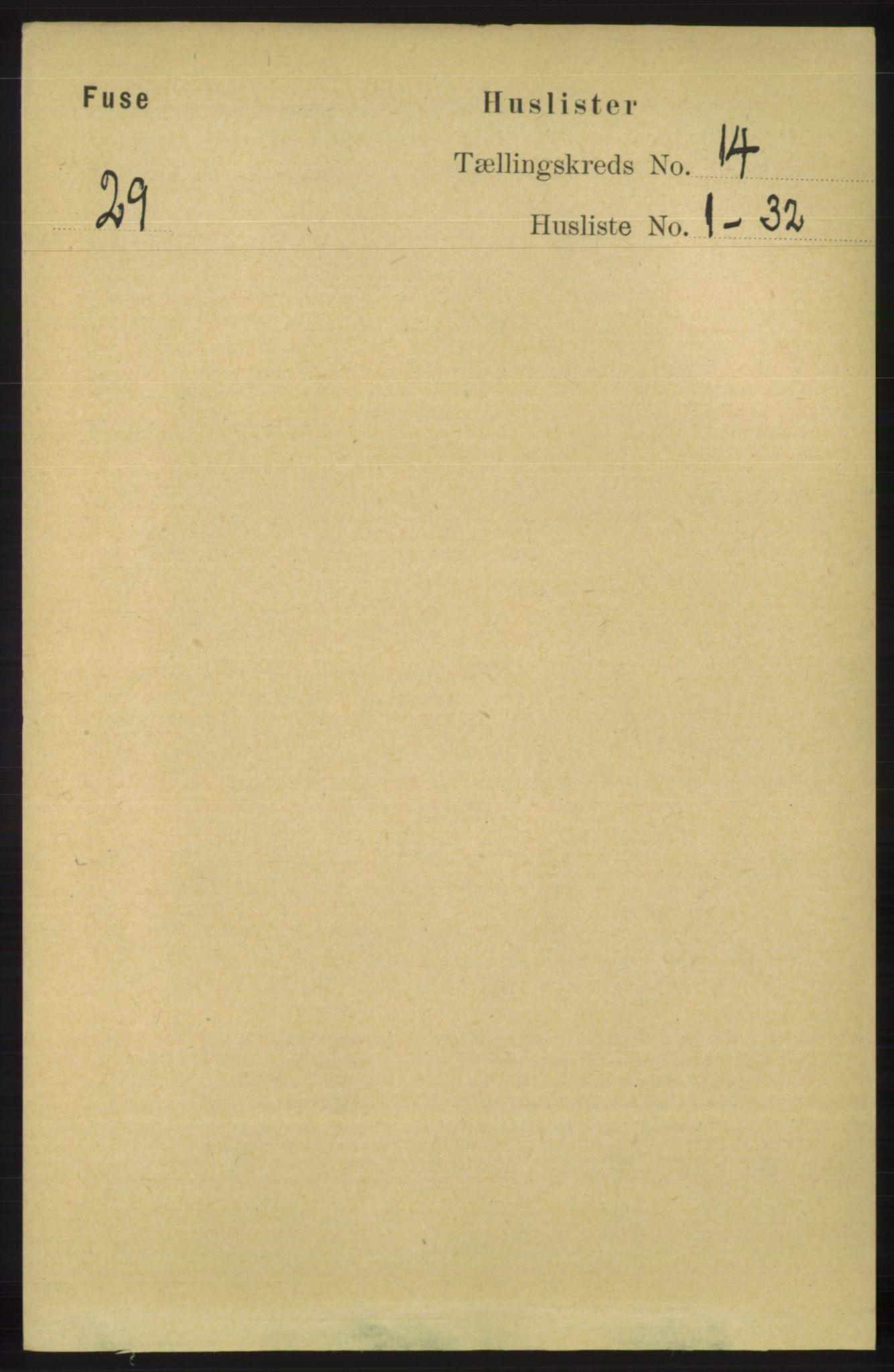 RA, Folketelling 1891 for 1241 Fusa herred, 1891, s. 3141