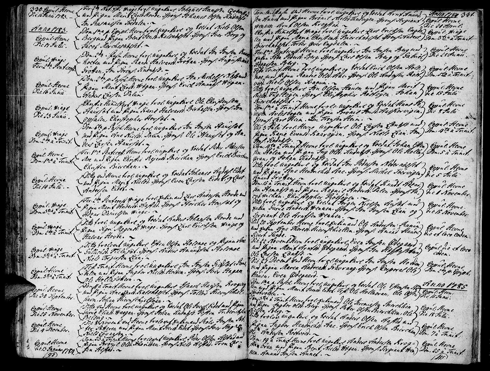 SAT, Ministerialprotokoller, klokkerbøker og fødselsregistre - Sør-Trøndelag, 630/L0489: Ministerialbok nr. 630A02, 1757-1794, s. 330-331