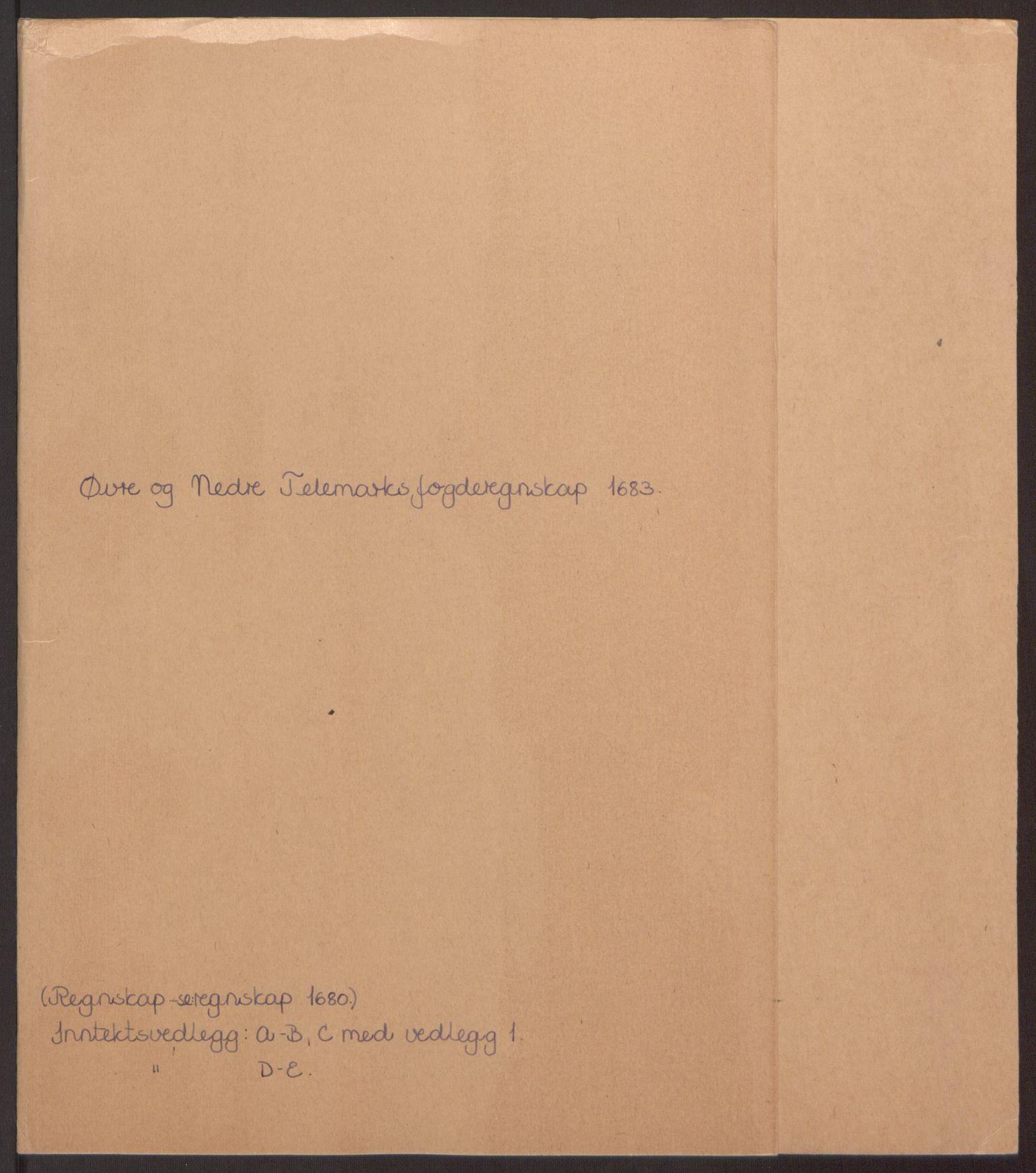 RA, Rentekammeret inntil 1814, Reviderte regnskaper, Fogderegnskap, R35/L2079: Fogderegnskap Øvre og Nedre Telemark, 1680-1684, s. 2