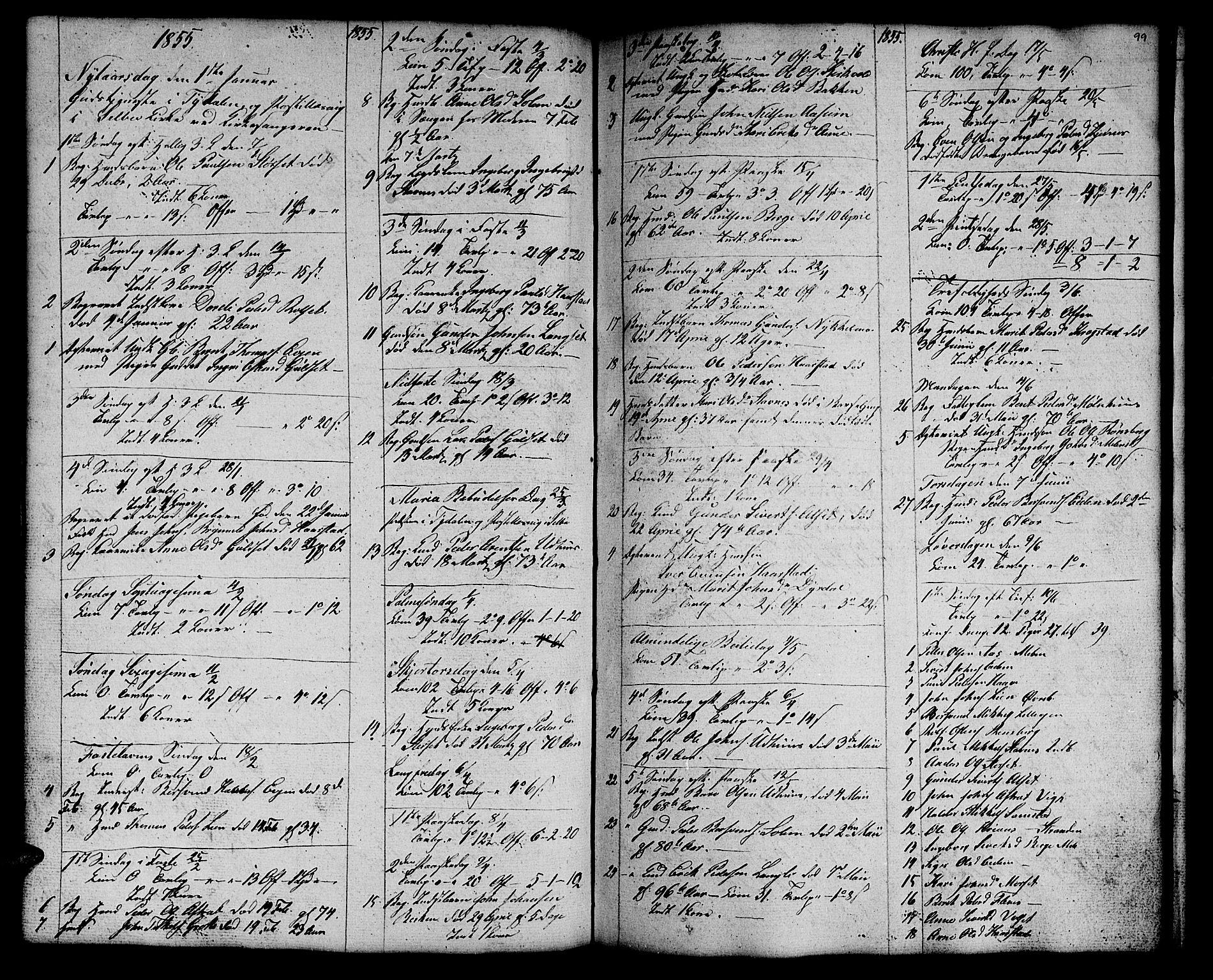 SAT, Ministerialprotokoller, klokkerbøker og fødselsregistre - Sør-Trøndelag, 695/L1154: Klokkerbok nr. 695C05, 1842-1858, s. 99