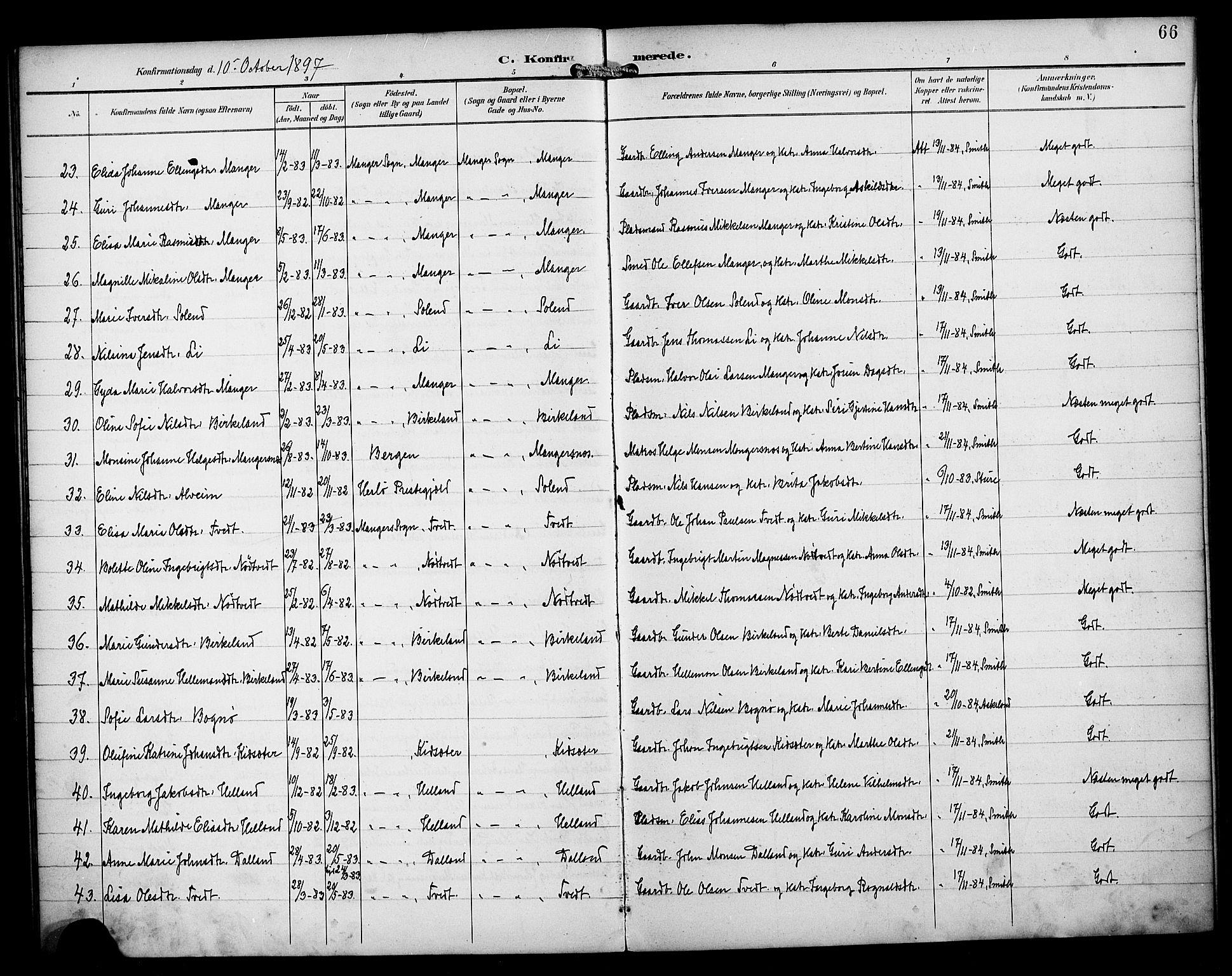 SAB, Manger sokneprestembete, H/Haa: Ministerialbok nr. B 2, 1893-1906, s. 66
