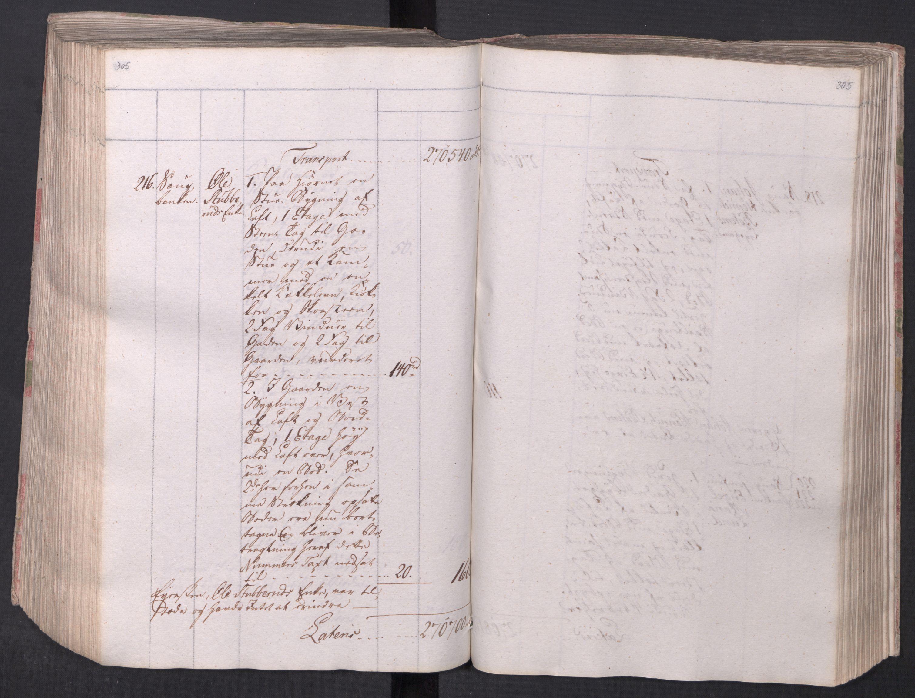 SAO, Kristiania stiftamt, I/Ia/L0015: Branntakster, 1797, s. 305
