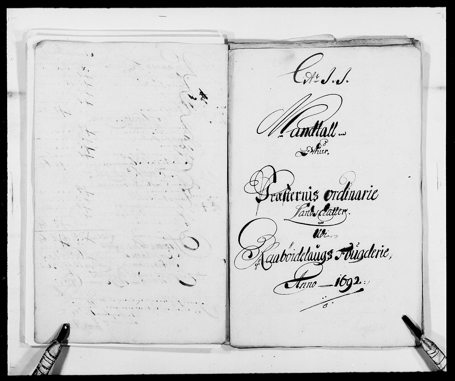 RA, Rentekammeret inntil 1814, Reviderte regnskaper, Fogderegnskap, R40/L2443: Fogderegnskap Råbyggelag, 1691-1692, s. 159
