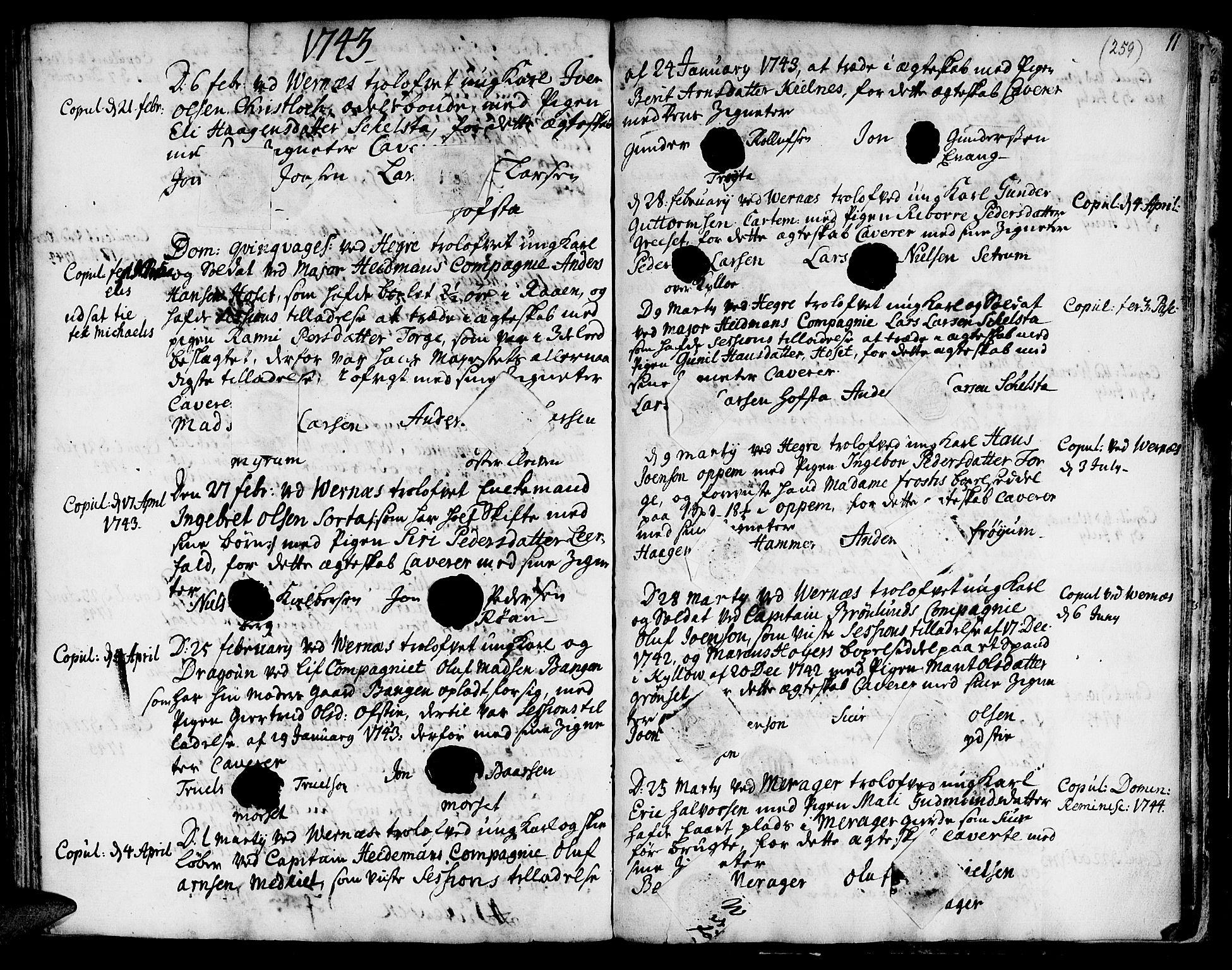 SAT, Ministerialprotokoller, klokkerbøker og fødselsregistre - Nord-Trøndelag, 709/L0056: Ministerialbok nr. 709A04, 1740-1756, s. 259