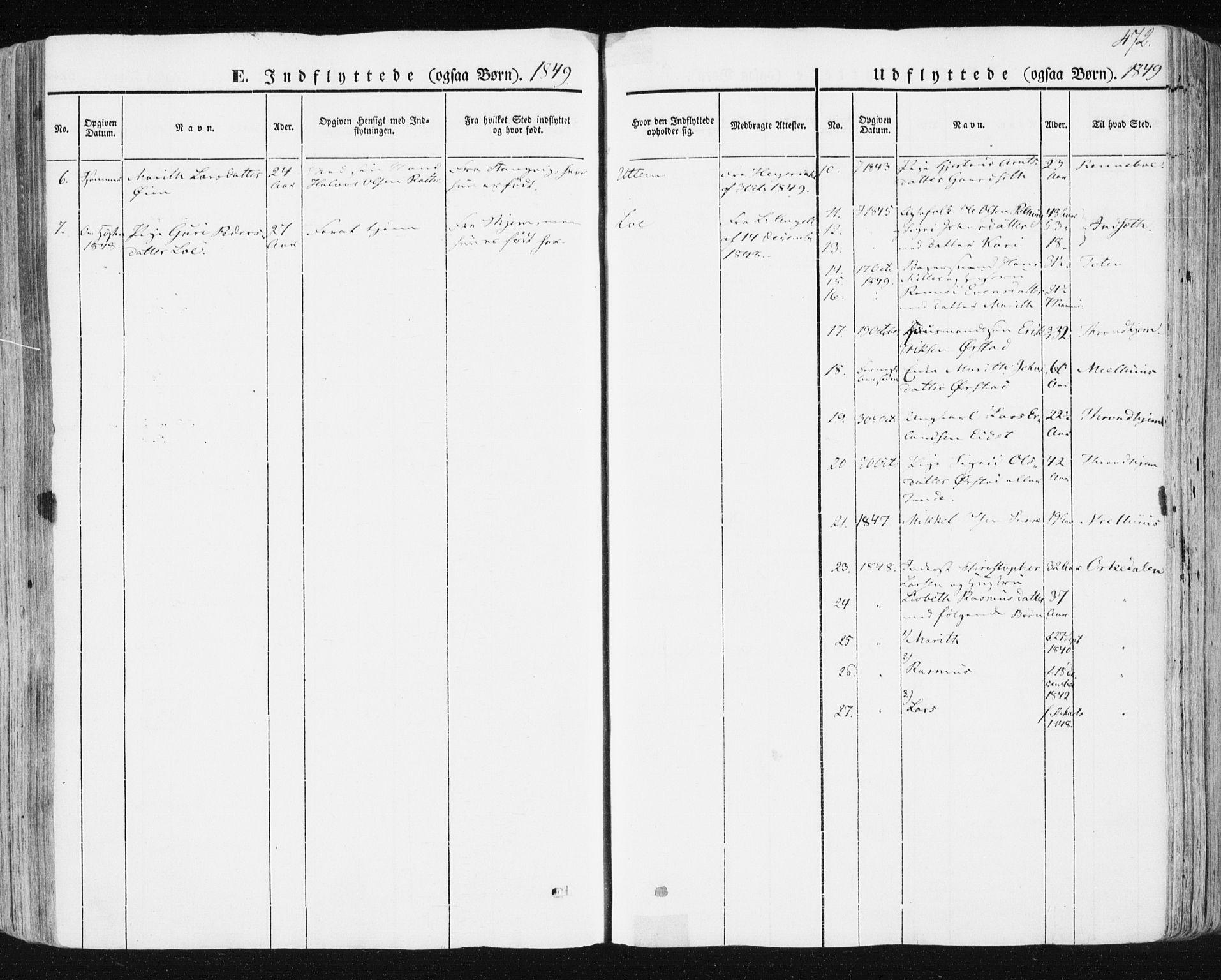 SAT, Ministerialprotokoller, klokkerbøker og fødselsregistre - Sør-Trøndelag, 678/L0899: Ministerialbok nr. 678A08, 1848-1872, s. 472