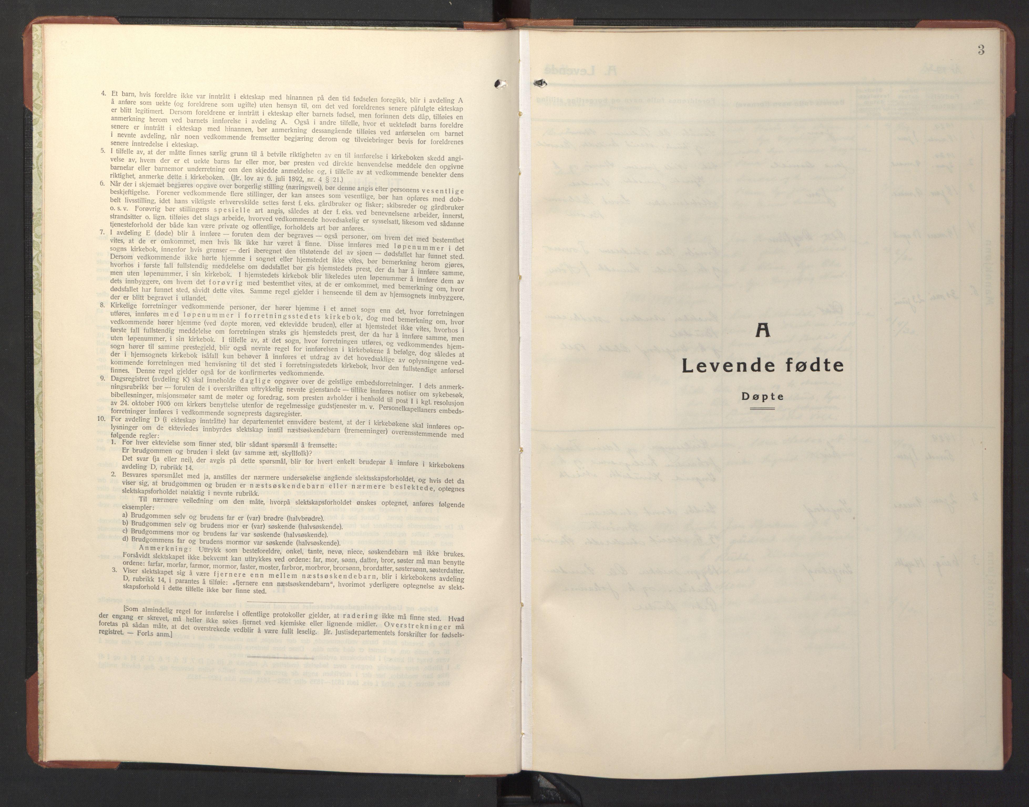 SAT, Ministerialprotokoller, klokkerbøker og fødselsregistre - Sør-Trøndelag, 690/L1053: Klokkerbok nr. 690C03, 1930-1947, s. 3
