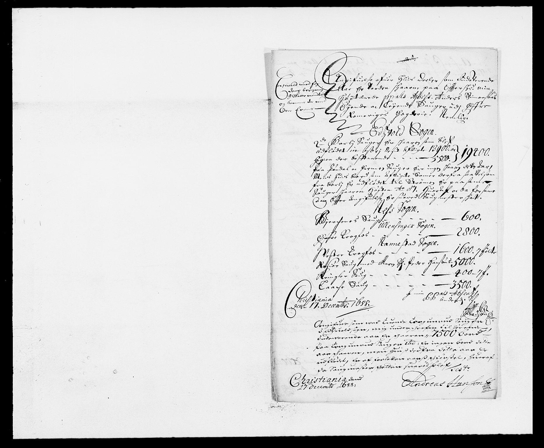 RA, Rentekammeret inntil 1814, Reviderte regnskaper, Fogderegnskap, R12/L0700: Fogderegnskap Øvre Romerike, 1687-1688, s. 403