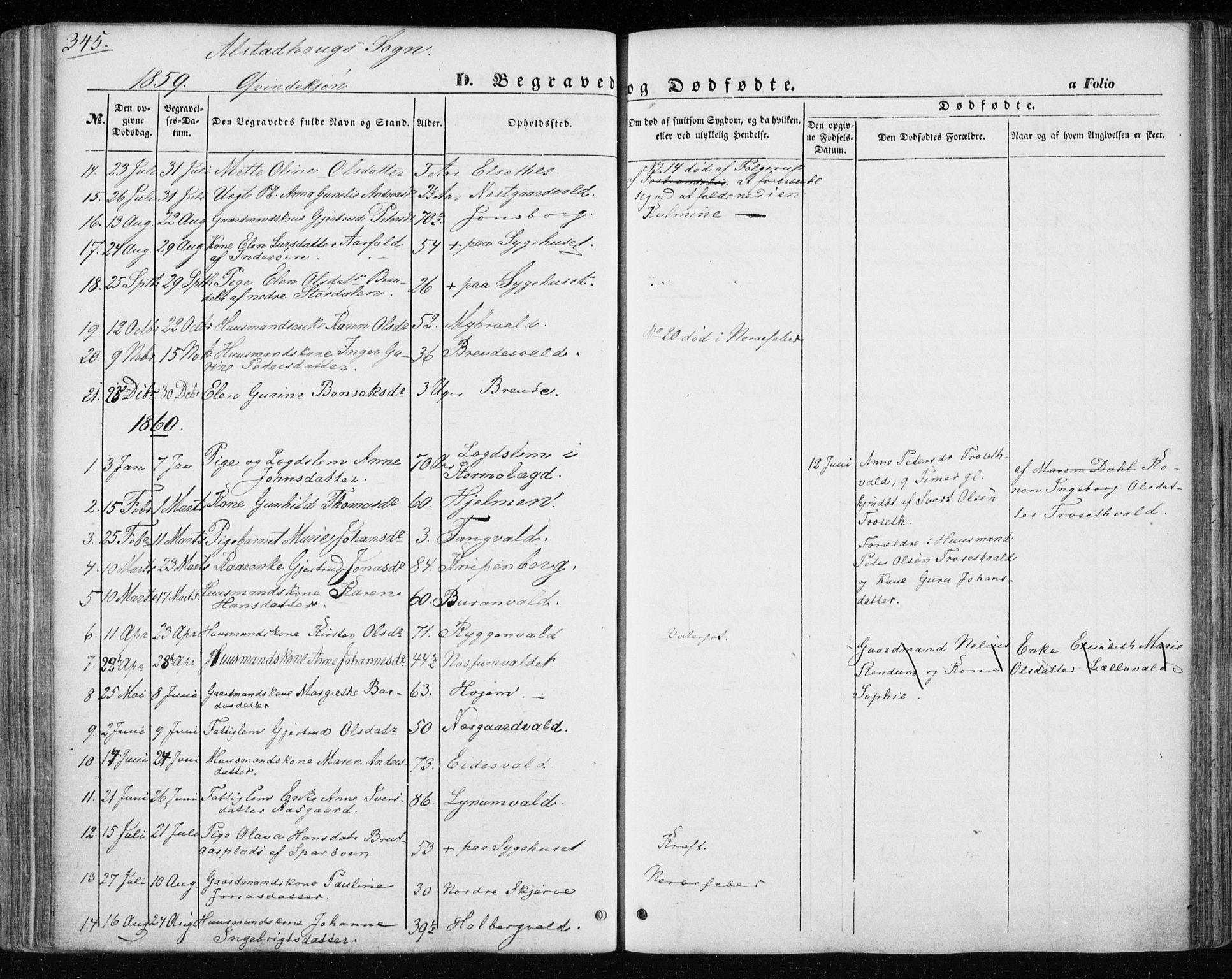 SAT, Ministerialprotokoller, klokkerbøker og fødselsregistre - Nord-Trøndelag, 717/L0154: Ministerialbok nr. 717A07 /1, 1850-1862, s. 345