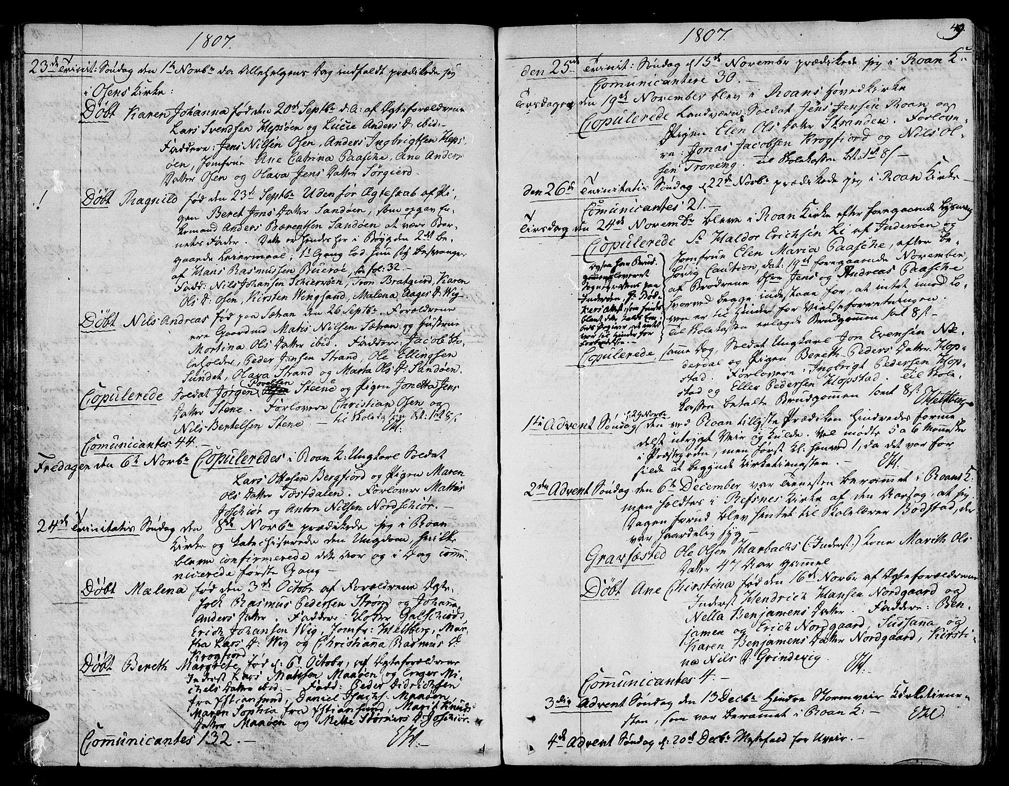 SAT, Ministerialprotokoller, klokkerbøker og fødselsregistre - Sør-Trøndelag, 657/L0701: Ministerialbok nr. 657A02, 1802-1831, s. 49