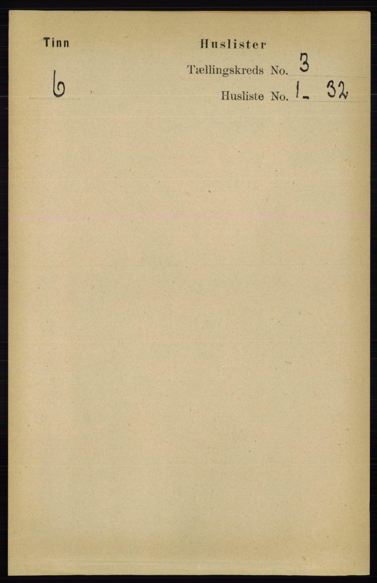 RA, Folketelling 1891 for 0826 Tinn herred, 1891, s. 469
