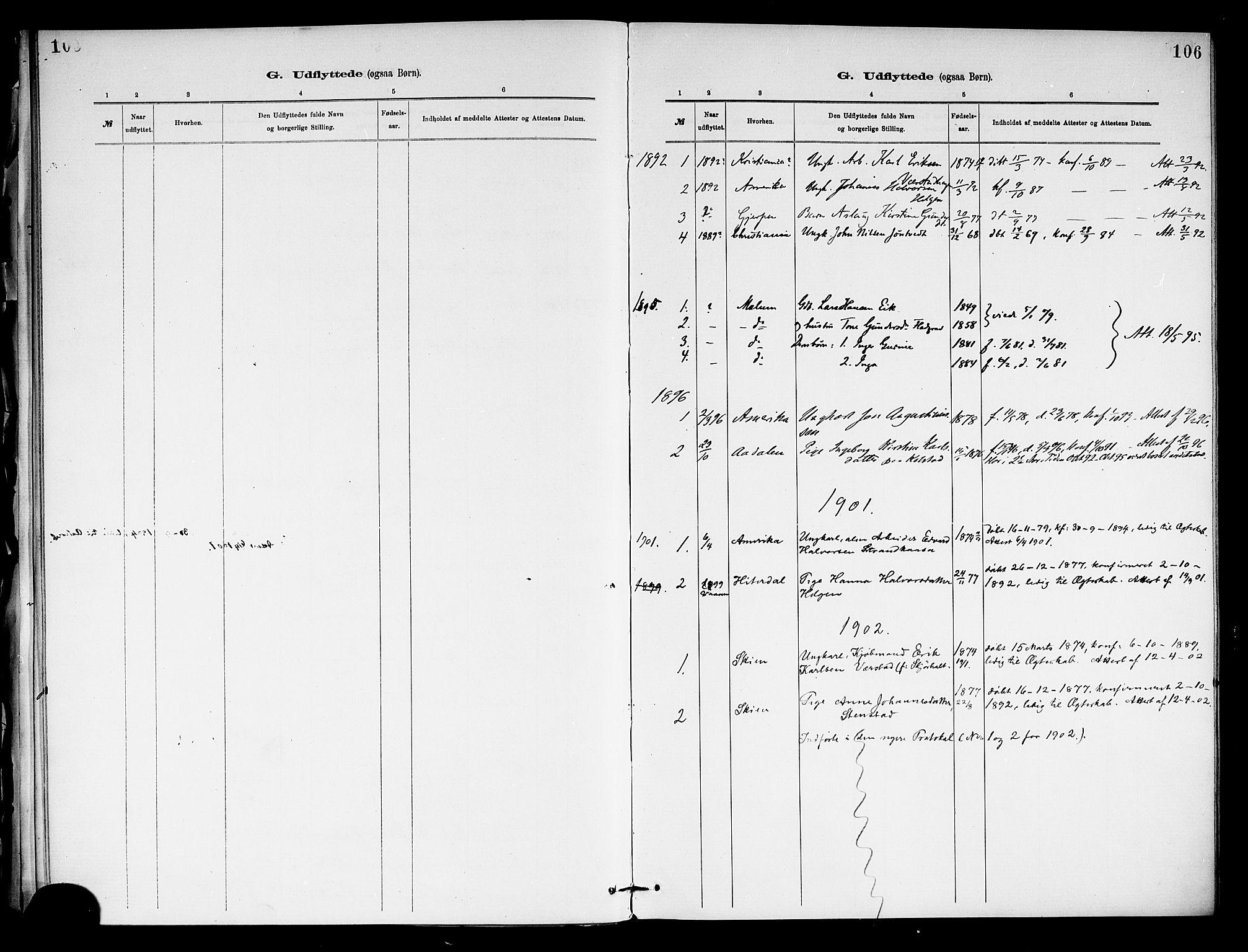 SAKO, Holla kirkebøker, F/Fa/L0009: Ministerialbok nr. 9, 1881-1897, s. 106