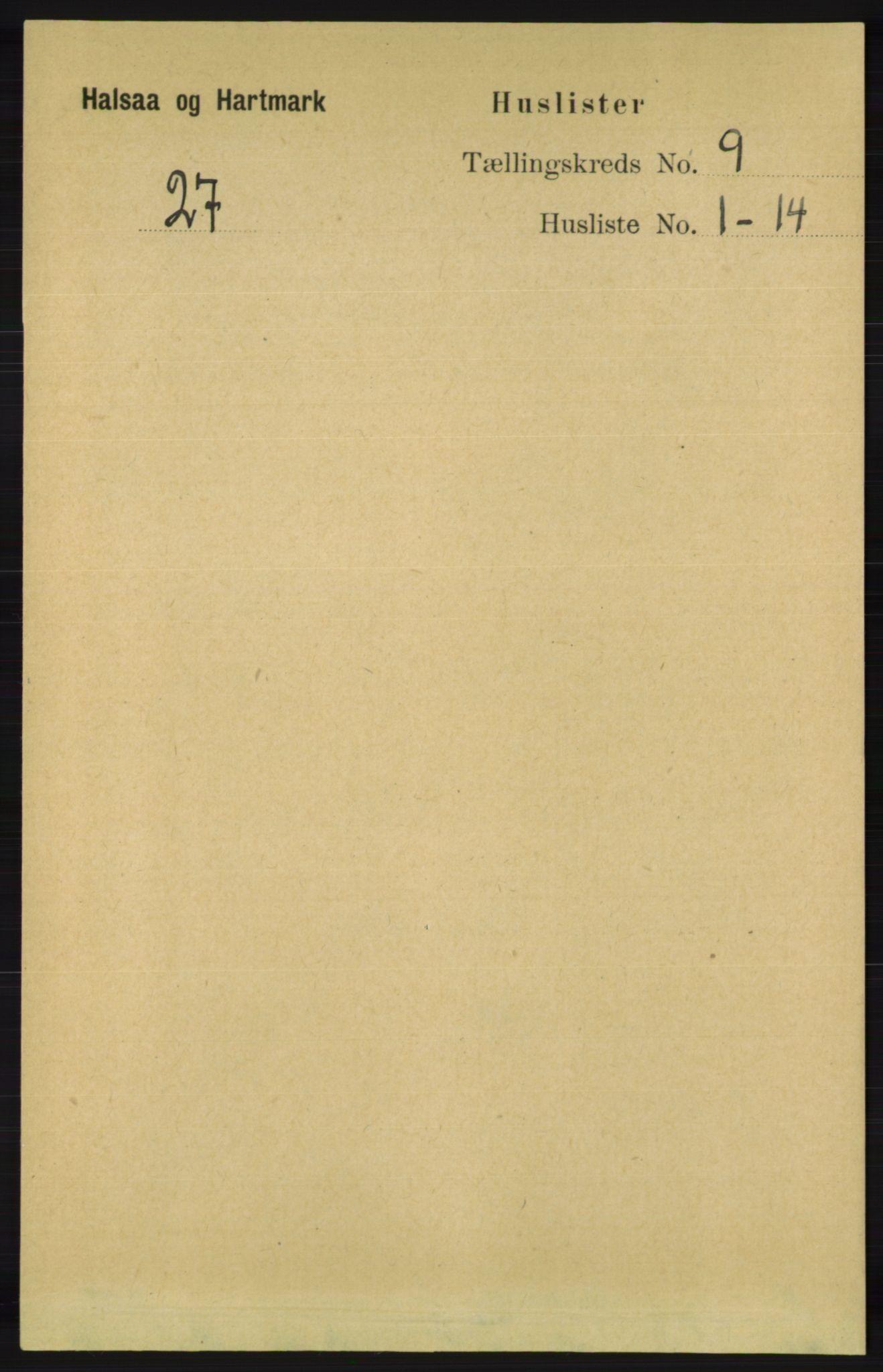 RA, Folketelling 1891 for 1019 Halse og Harkmark herred, 1891, s. 3576