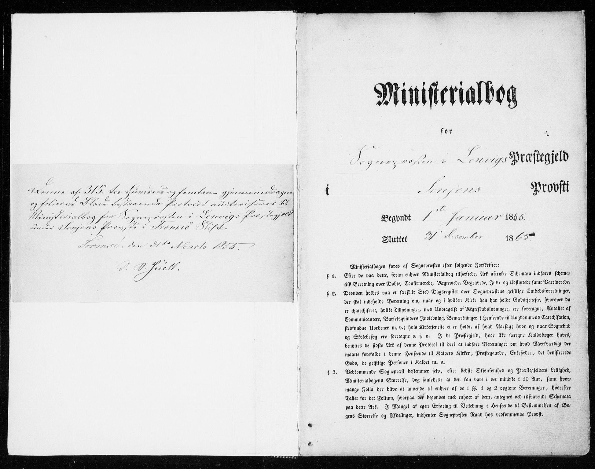 SATØ, Lenvik sokneprestembete, H/Ha: Ministerialbok nr. 7, 1855-1865