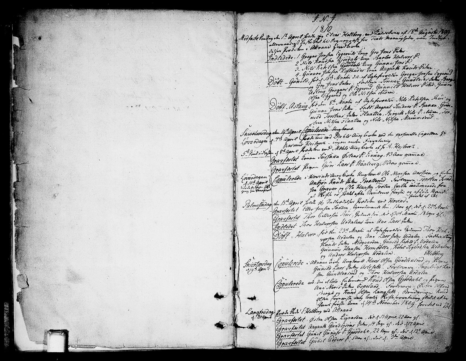 SAKO, Tinn kirkebøker, F/Fa/L0003: Ministerialbok nr. I 3, 1810-1814, s. 2-3