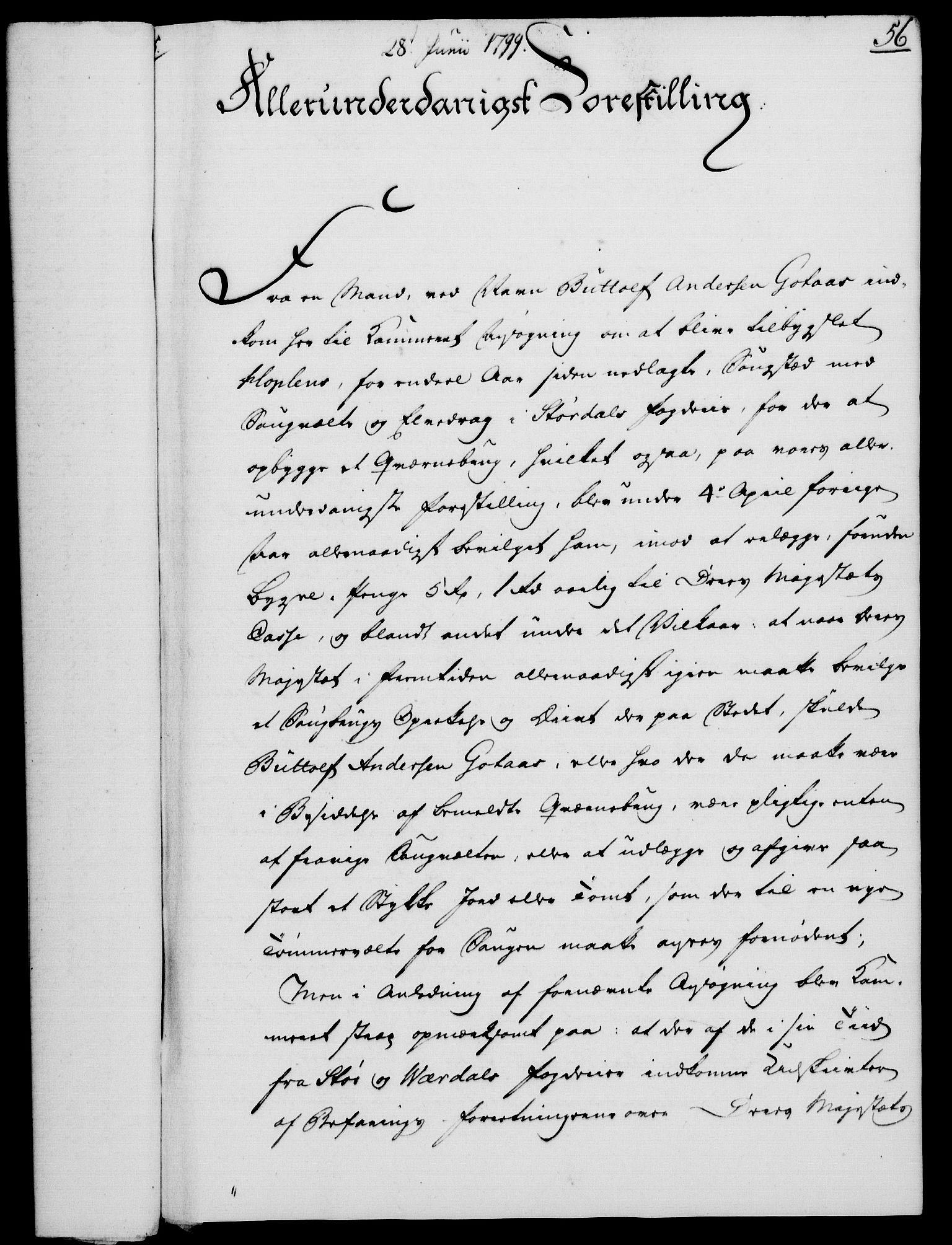 RA, Rentekammeret, Kammerkanselliet, G/Gf/Gfa/L0081: Norsk relasjons- og resolusjonsprotokoll (merket RK 52.81), 1799, s. 375