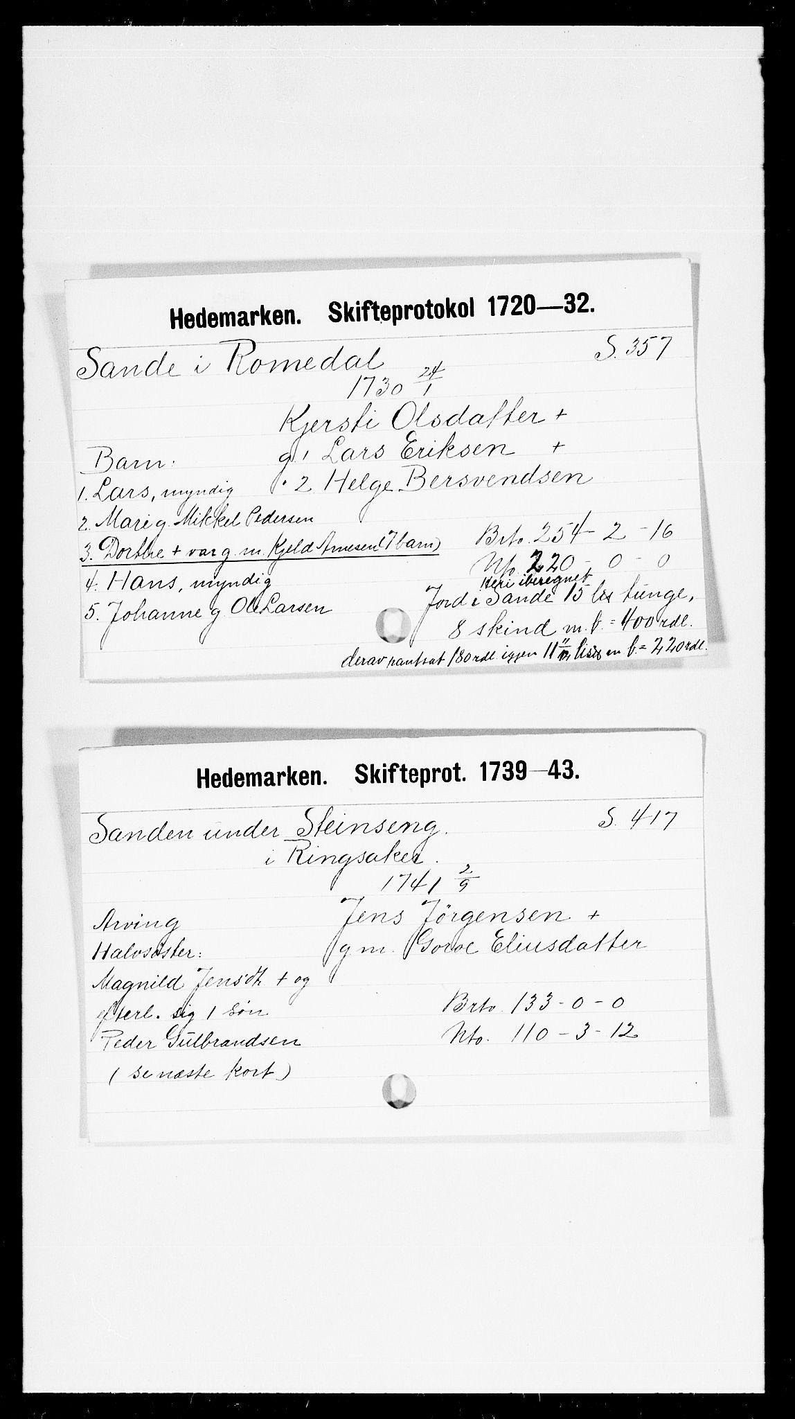 SAH, Hedemarken sorenskriveri, J, 1663-1743, s. 5385