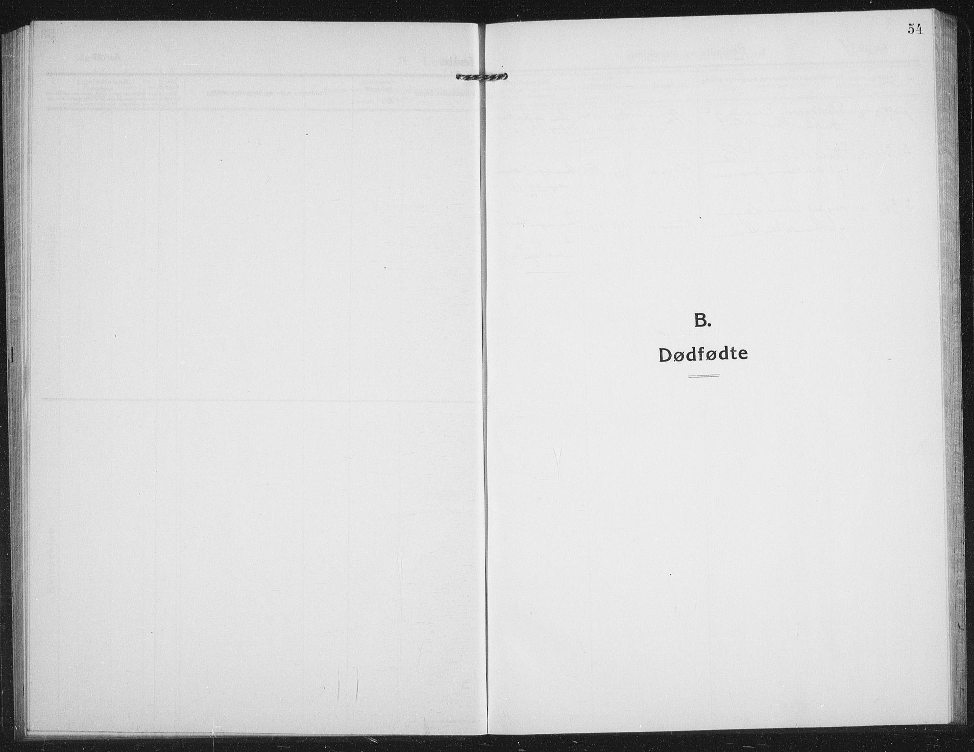 SATØ, Tranøy sokneprestkontor, I/Ia/Iab/L0019klokker: Klokkerbok nr. 19, 1914-1940, s. 54