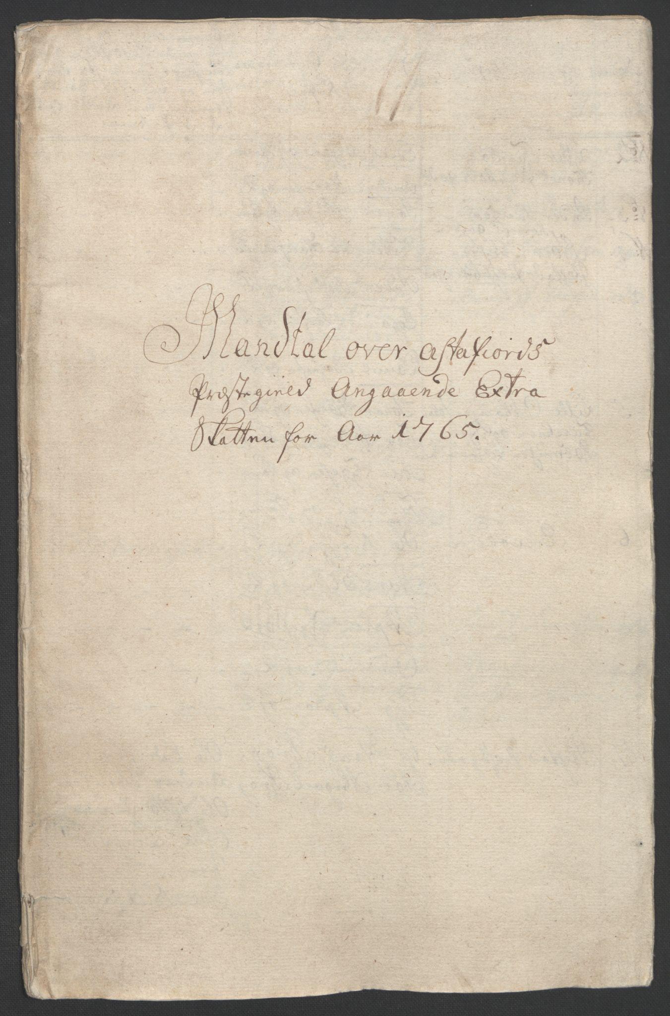 RA, Rentekammeret inntil 1814, Realistisk ordnet avdeling, Ol/L0022b: [Gg 10]: Ekstraskatten, 23.09.1762. Senja og Troms, 1765-1768, s. 2
