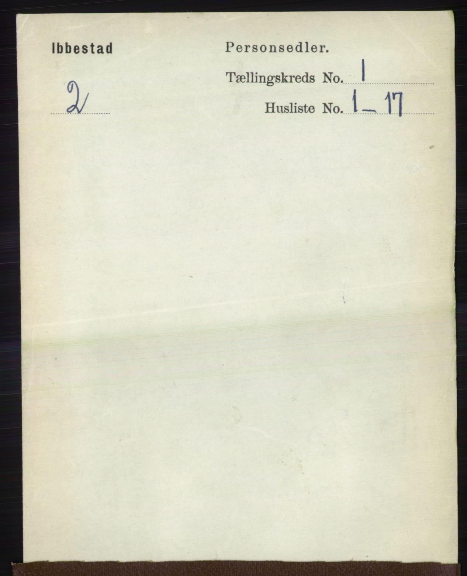 RA, Folketelling 1891 for 1917 Ibestad herred, 1891, s. 121