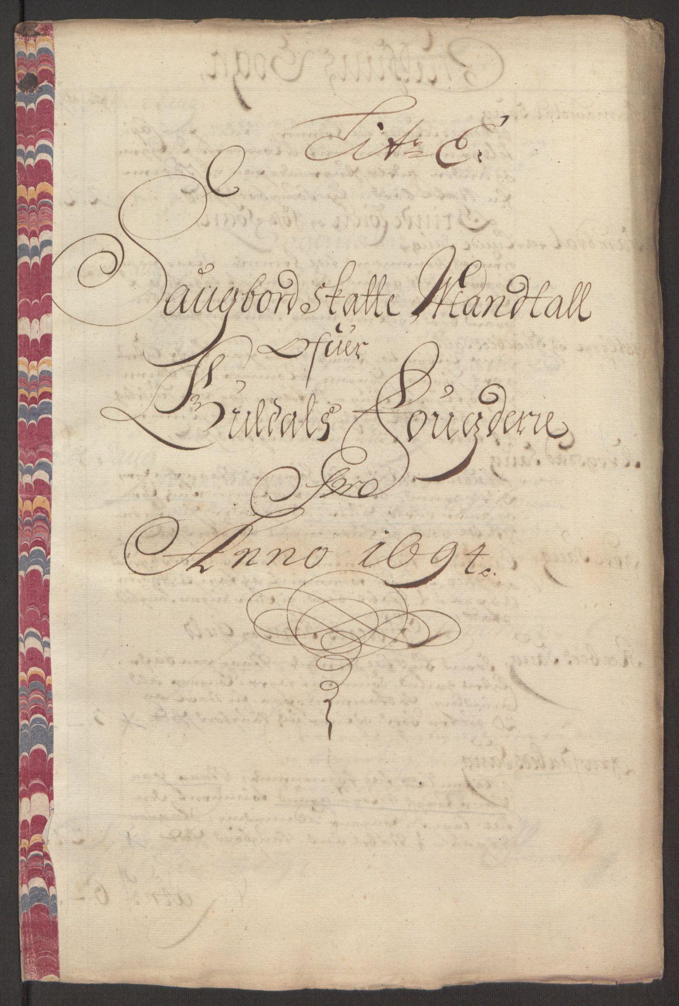 RA, Rentekammeret inntil 1814, Reviderte regnskaper, Fogderegnskap, R60/L3944: Fogderegnskap Orkdal og Gauldal, 1694, s. 357