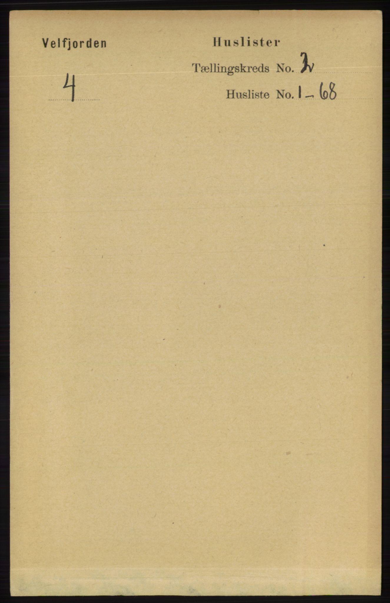 RA, Folketelling 1891 for 1813 Velfjord herred, 1891, s. 479