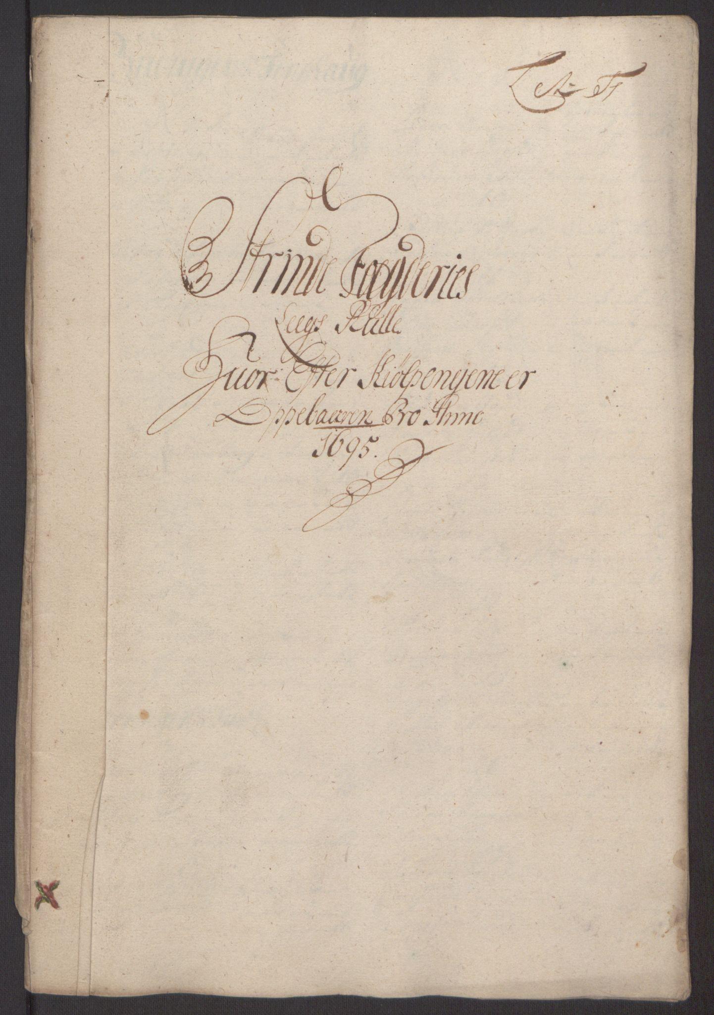 RA, Rentekammeret inntil 1814, Reviderte regnskaper, Fogderegnskap, R61/L4105: Fogderegnskap Strinda og Selbu, 1695, s. 49
