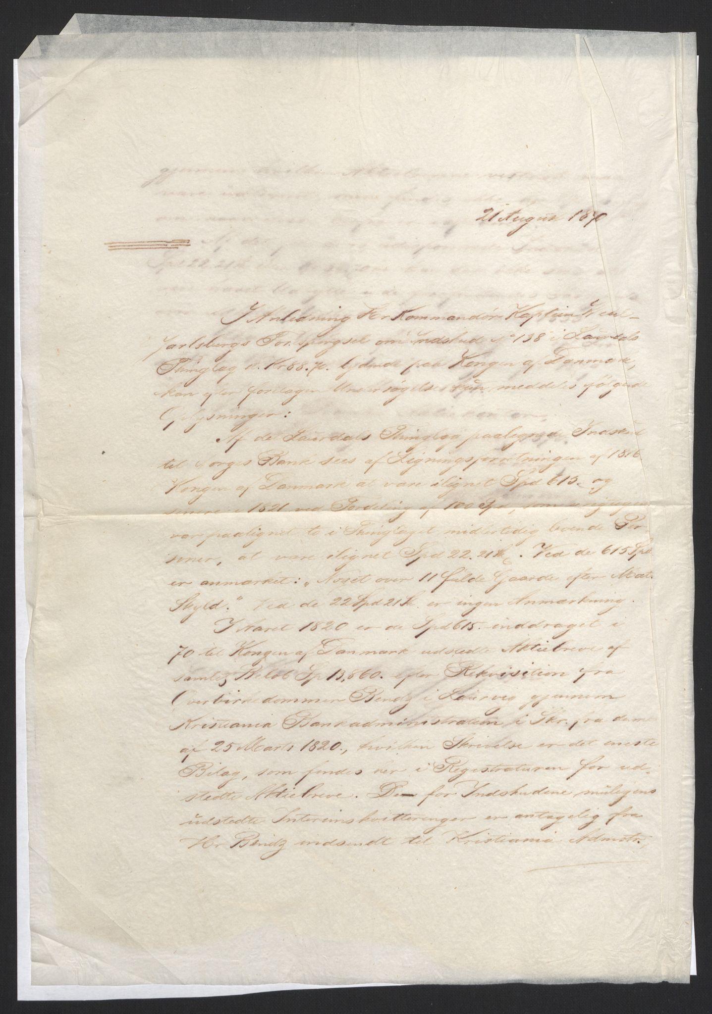 NOBA, Norges Bank/Sølvskatten 1816*, 1816-1824, s. 105
