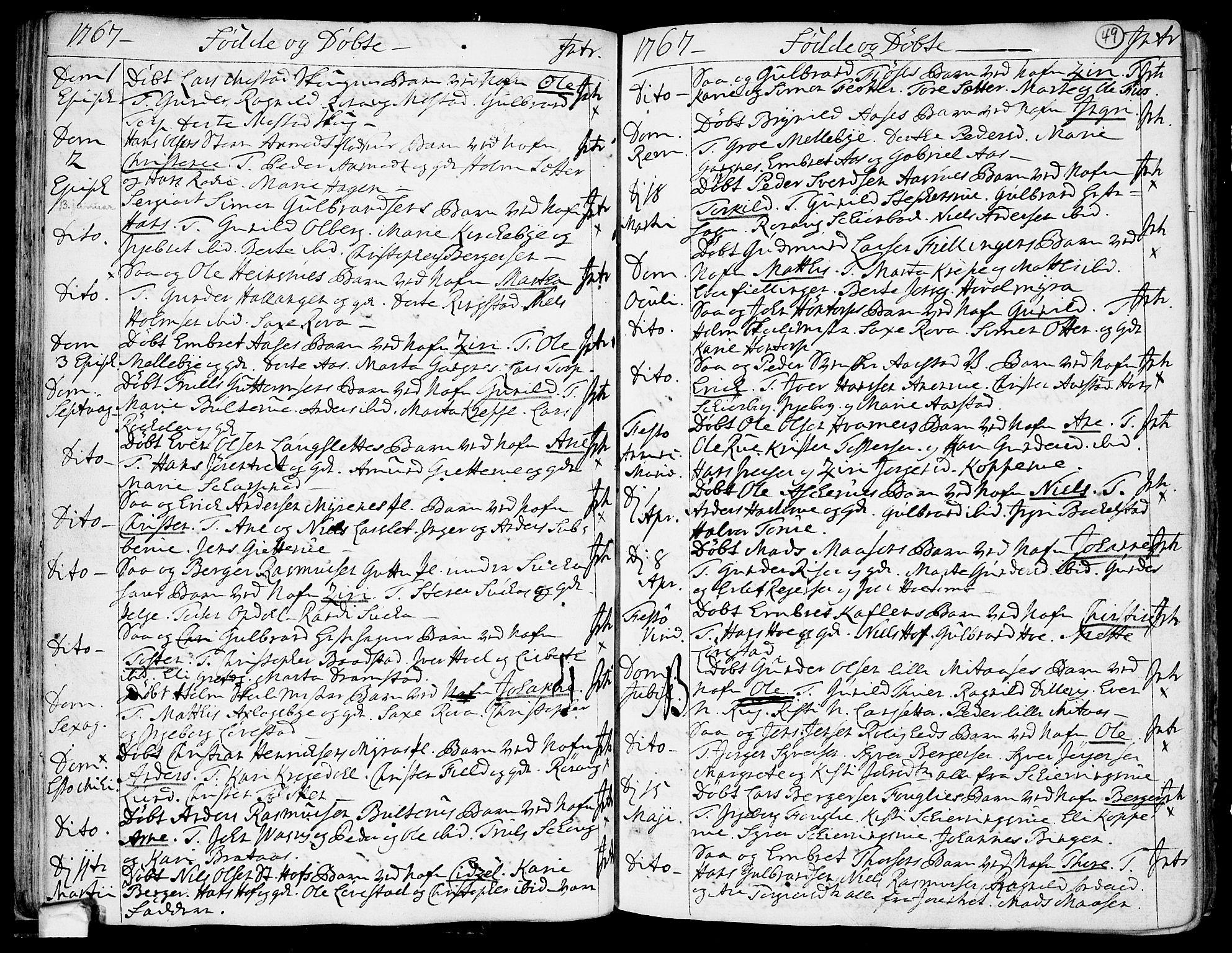 SAO, Trøgstad prestekontor Kirkebøker, F/Fa/L0004: Ministerialbok nr. I 4, 1750-1784, s. 49