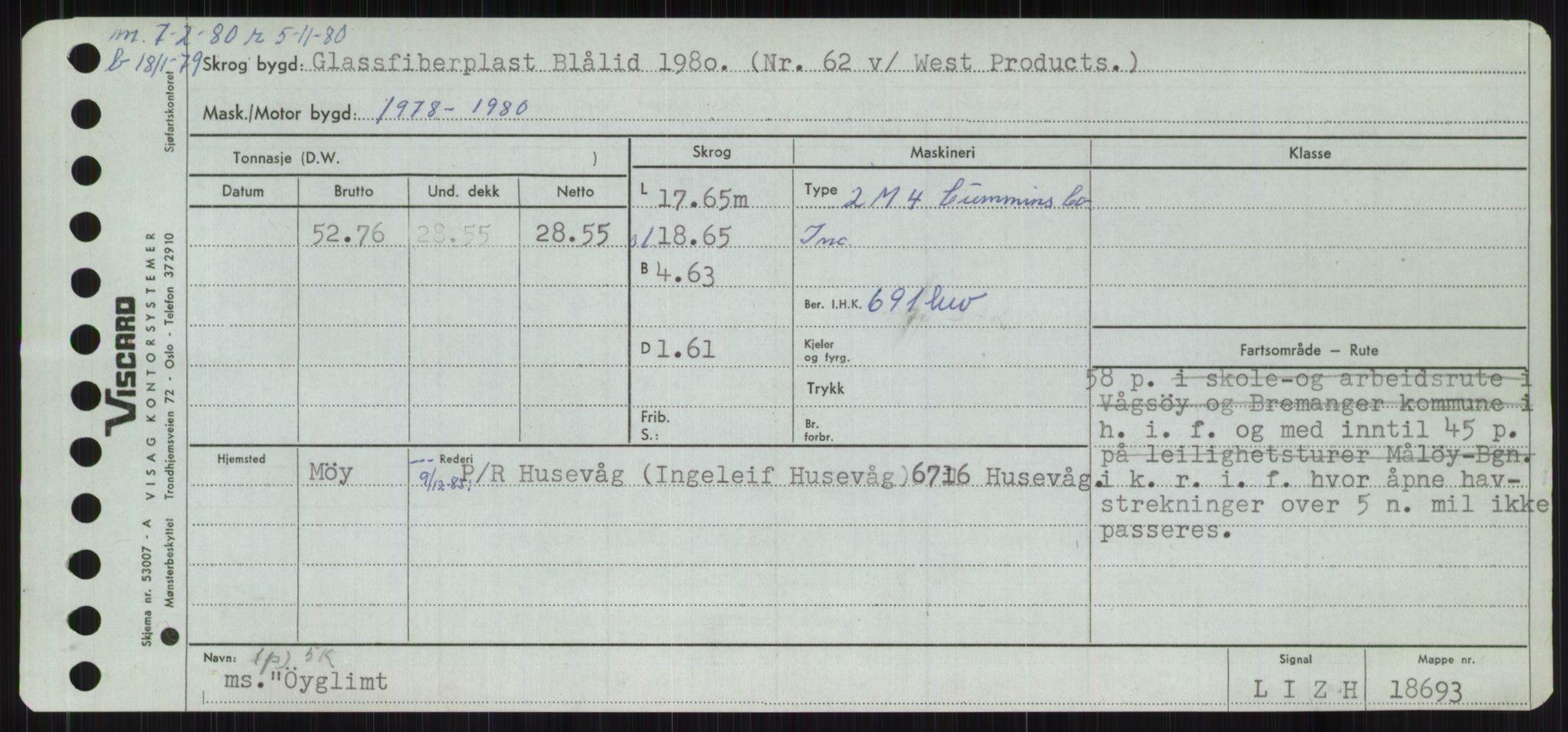 RA, Sjøfartsdirektoratet med forløpere, Skipsmålingen, H/Ha/L0006: Fartøy, Sver-Å, s. 820