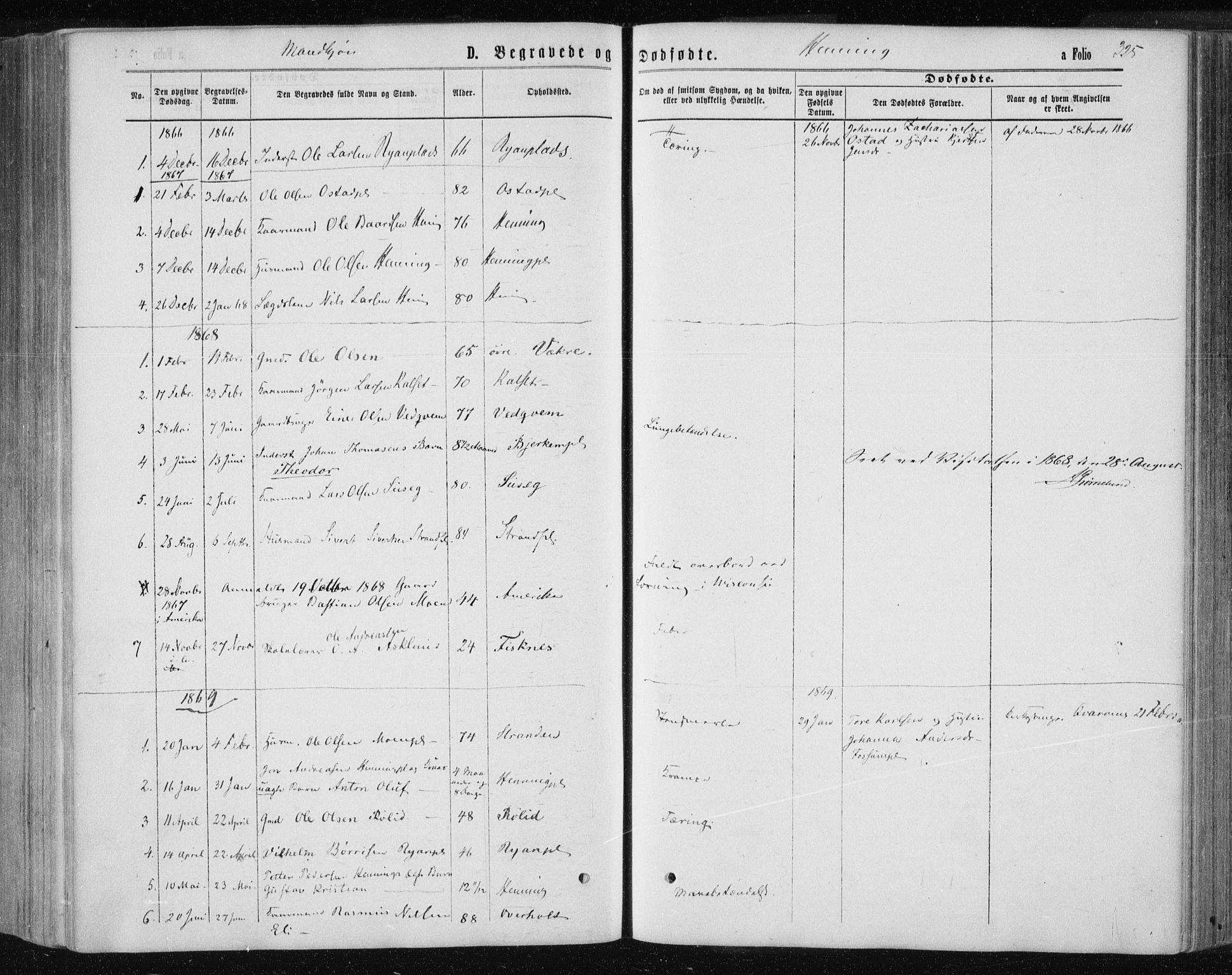 SAT, Ministerialprotokoller, klokkerbøker og fødselsregistre - Nord-Trøndelag, 735/L0345: Ministerialbok nr. 735A08 /3, 1863-1872, s. 325