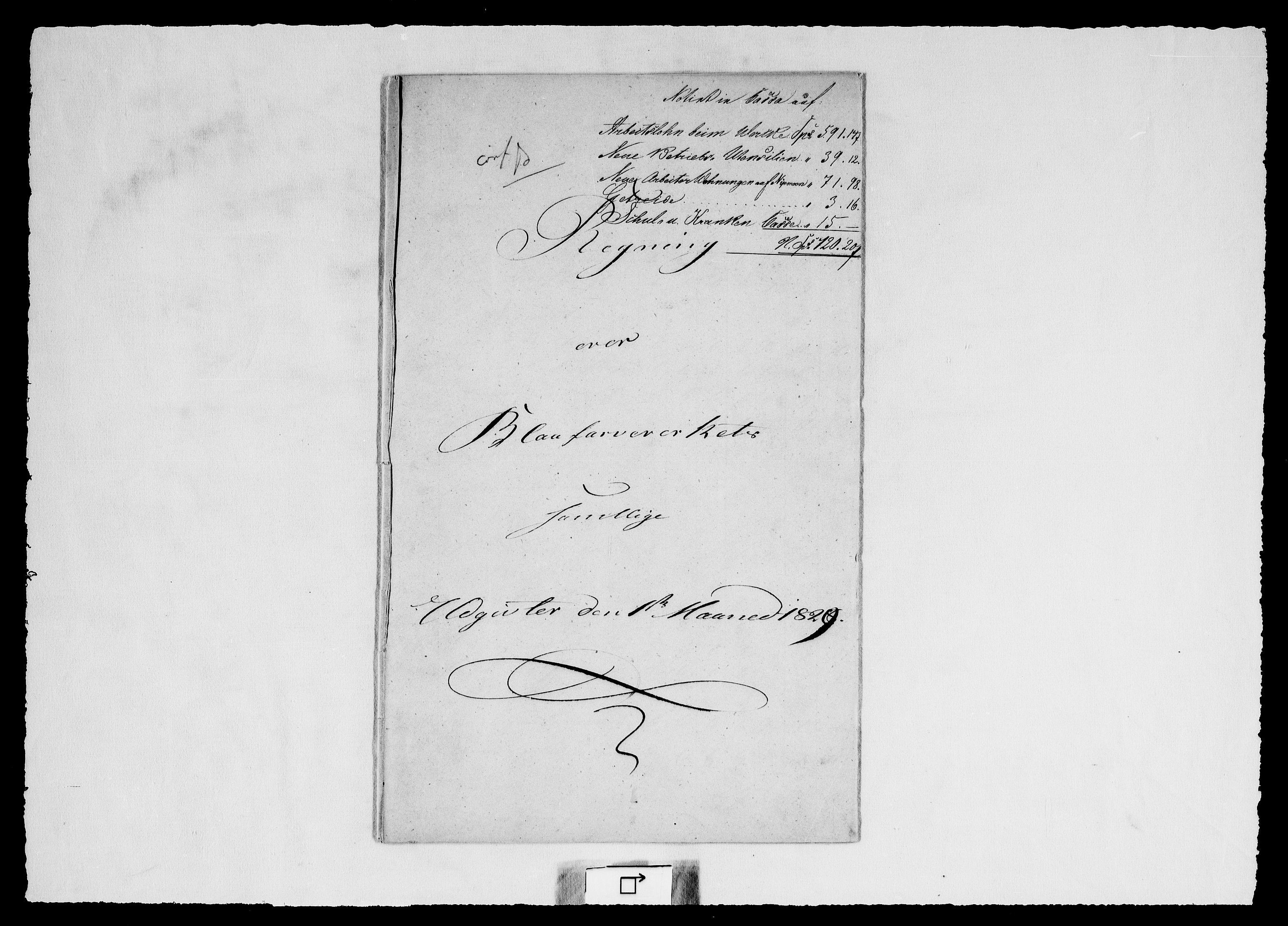 RA, Modums Blaafarveværk, G/Gd/Gdd/L0252, 1827-1832, s. 2