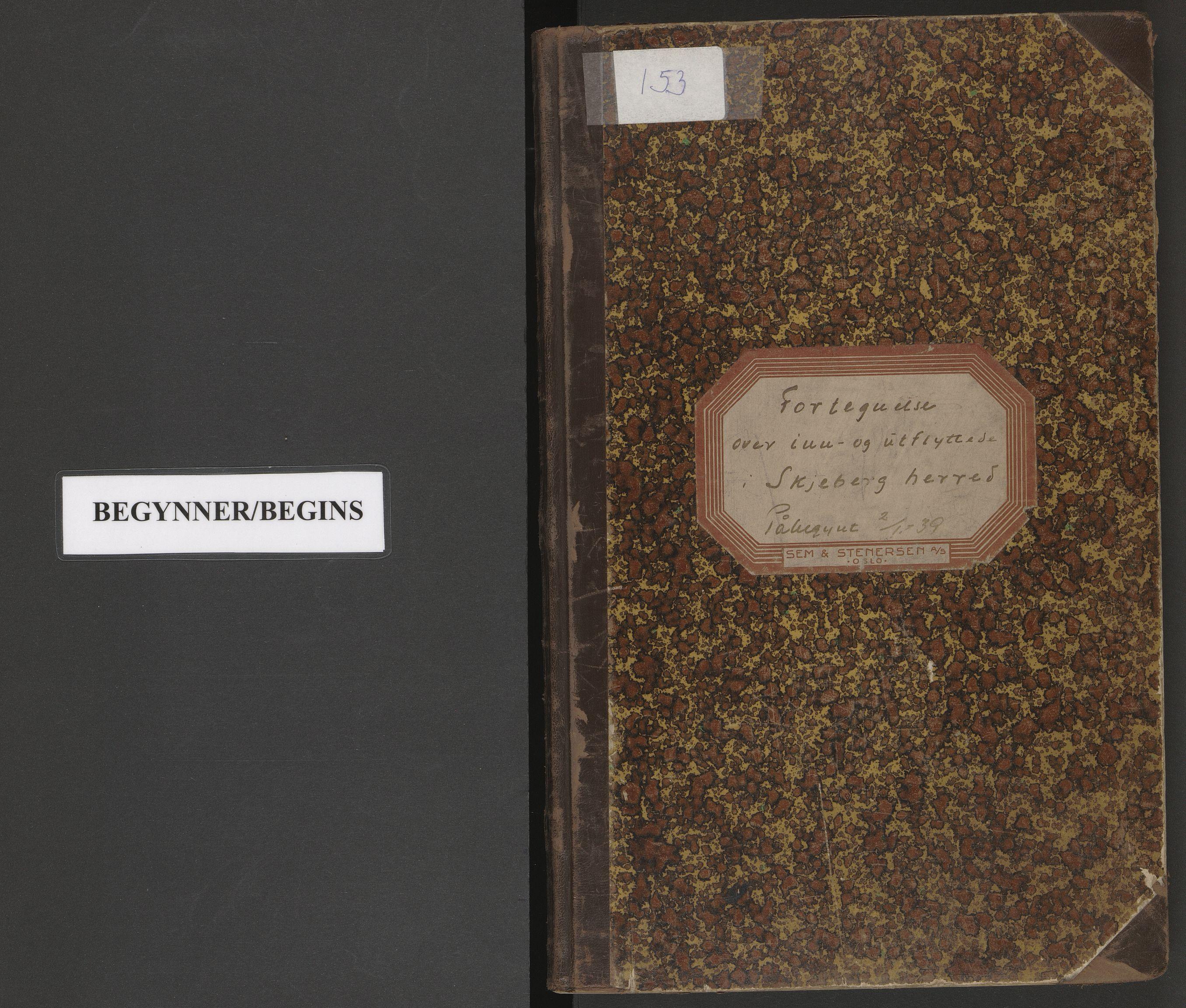 SAO, Skjeberg folkeregister, K/Ka/L0001: Fortegnelse over inn- og utflyttede, 1939-1941