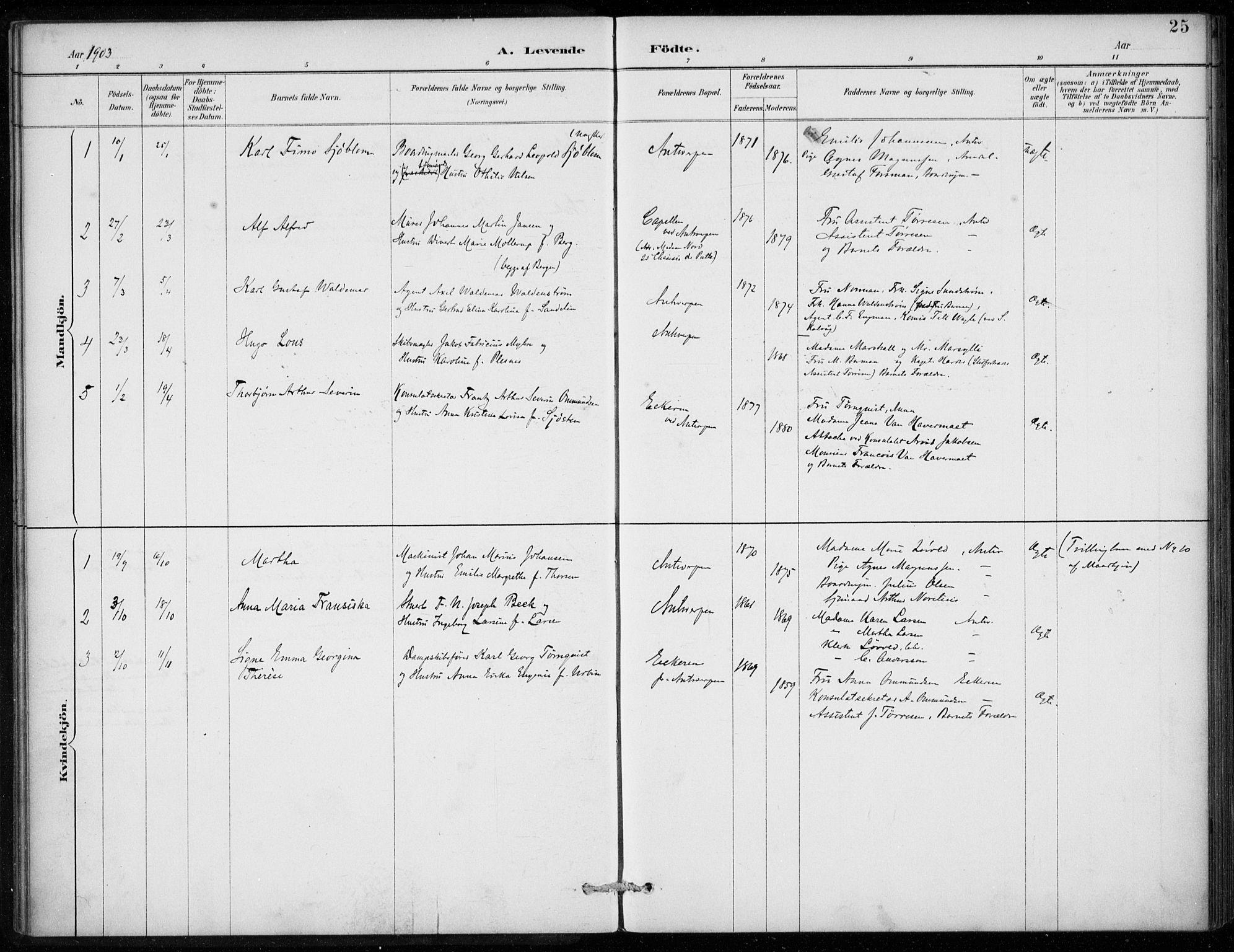 SAB, Den Norske Sjømannsmisjon i utlandet*, Ministerialbok nr. A 2, 1887-1913, s. 25