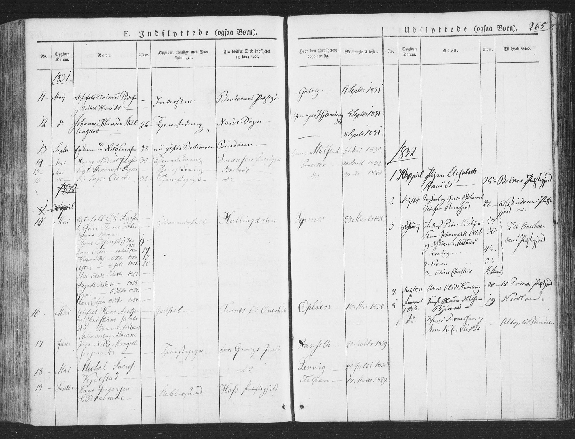 SAT, Ministerialprotokoller, klokkerbøker og fødselsregistre - Nord-Trøndelag, 780/L0639: Ministerialbok nr. 780A04, 1830-1844, s. 265
