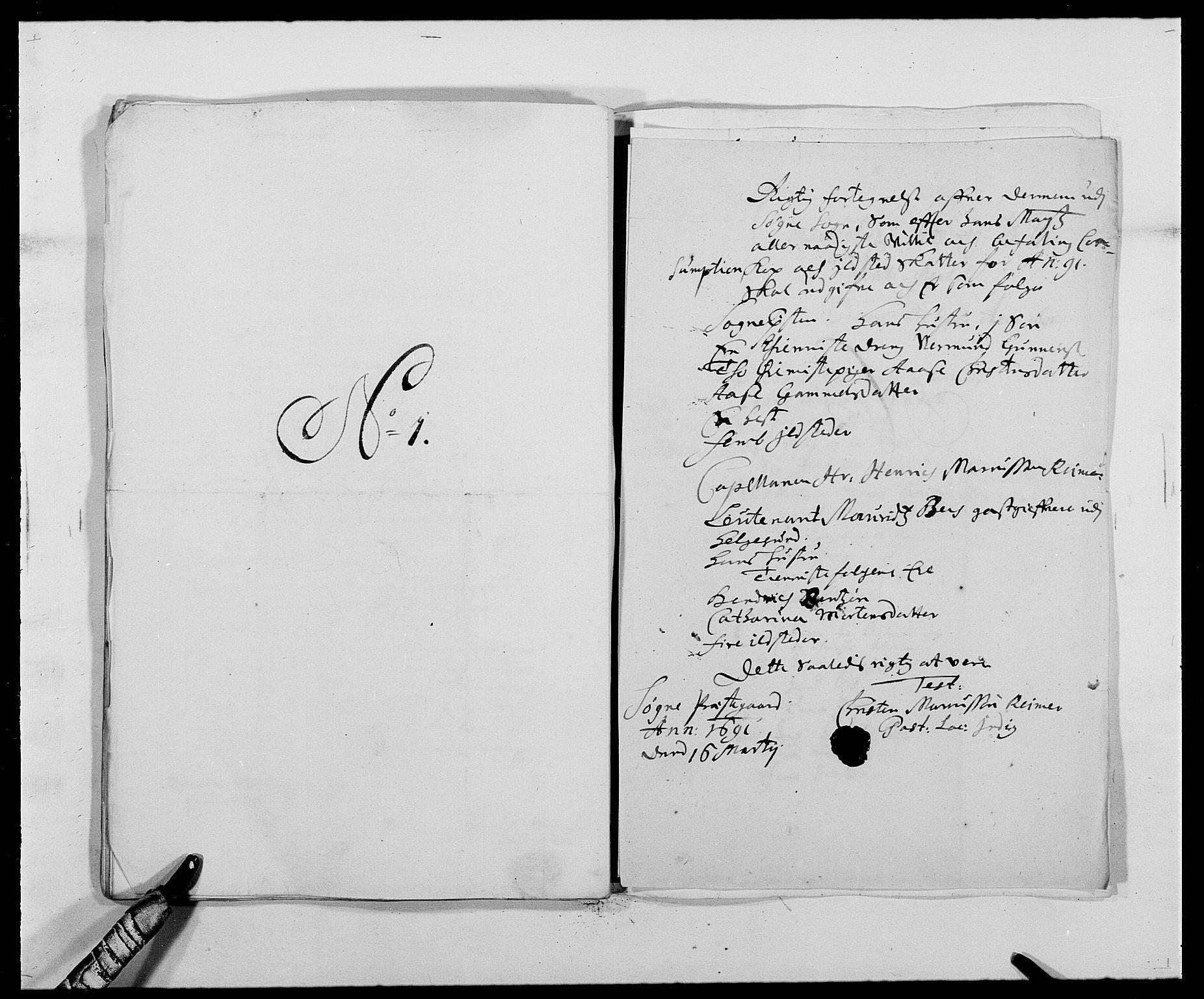 RA, Rentekammeret inntil 1814, Reviderte regnskaper, Fogderegnskap, R42/L2543: Mandal fogderi, 1688-1691, s. 246