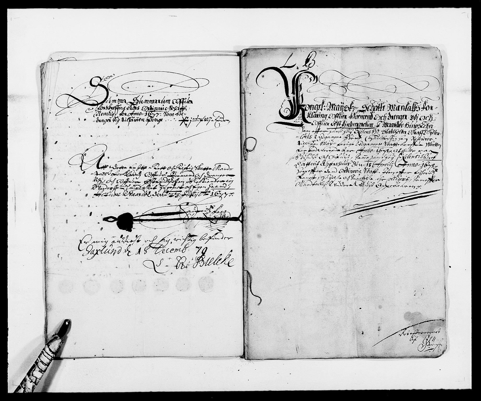 RA, Rentekammeret inntil 1814, Reviderte regnskaper, Fogderegnskap, R69/L4849: Fogderegnskap Finnmark/Vardøhus, 1661-1679, s. 390