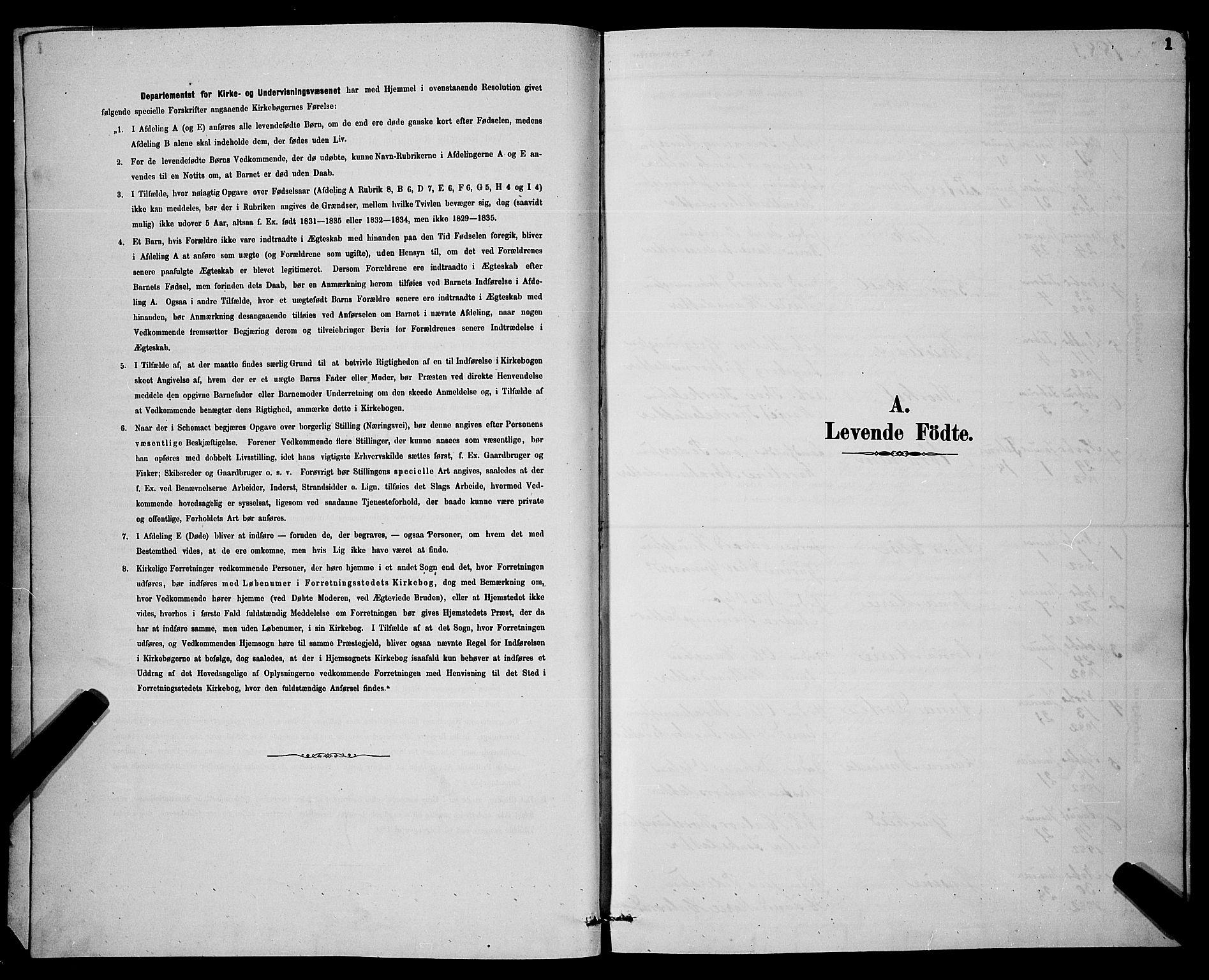 SAKO, Gjerpen kirkebøker, G/Ga/L0002: Klokkerbok nr. I 2, 1883-1900, s. 1