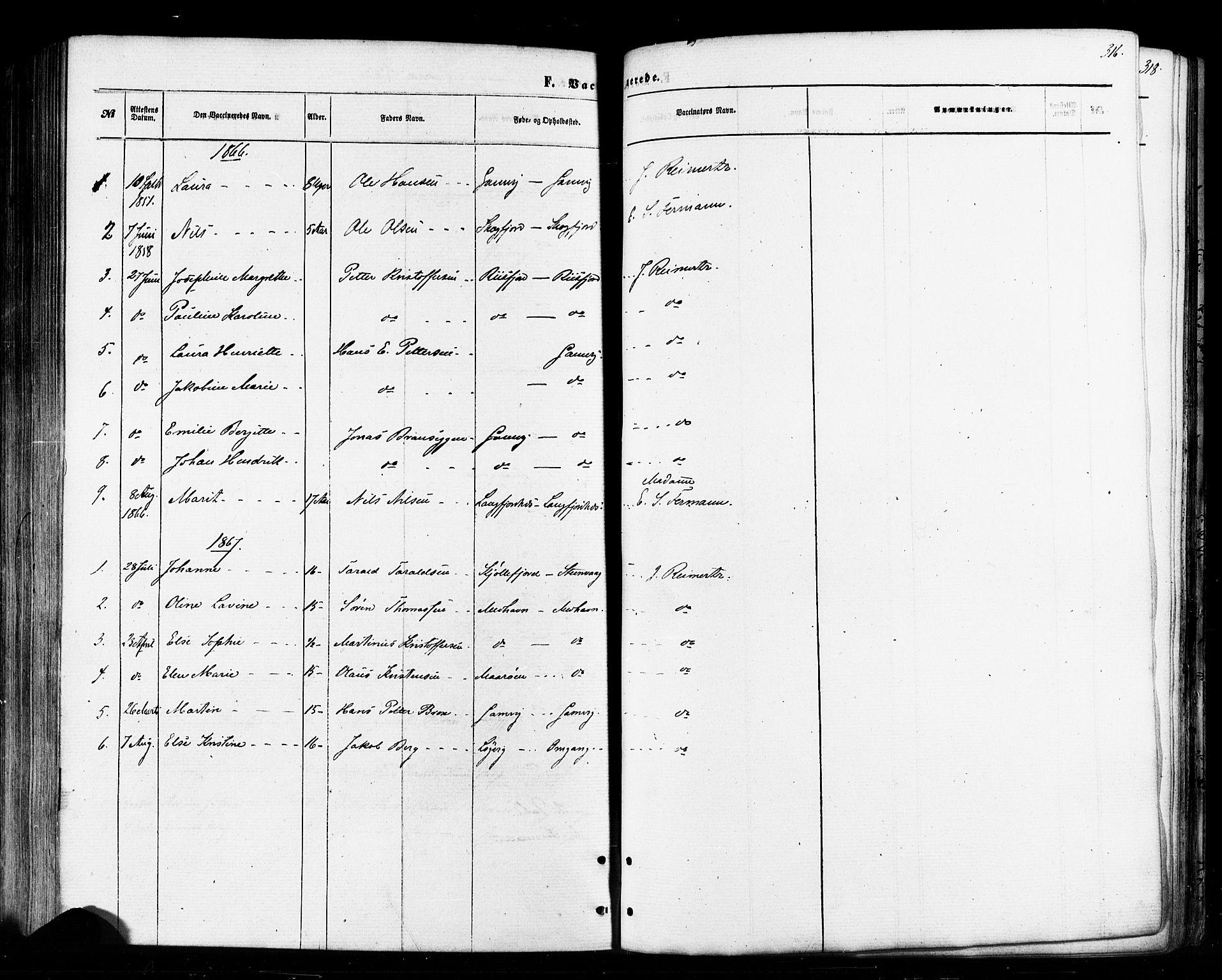 SATØ, Tana sokneprestkontor, H/Ha/L0002kirke: Ministerialbok nr. 2 /2, 1862-1877, s. 316