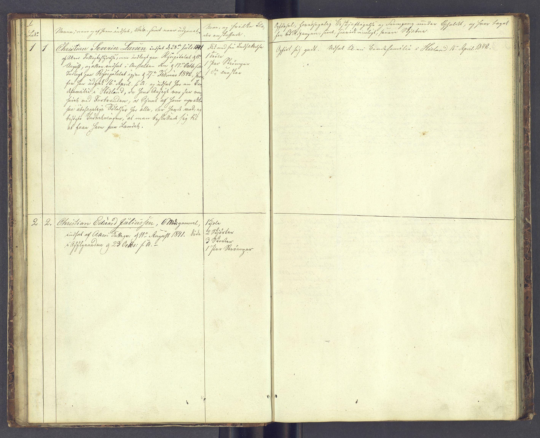 SAH, Toftes Gave, F/Fc/L0001: Elevprotokoll, 1841-1847, s. 1