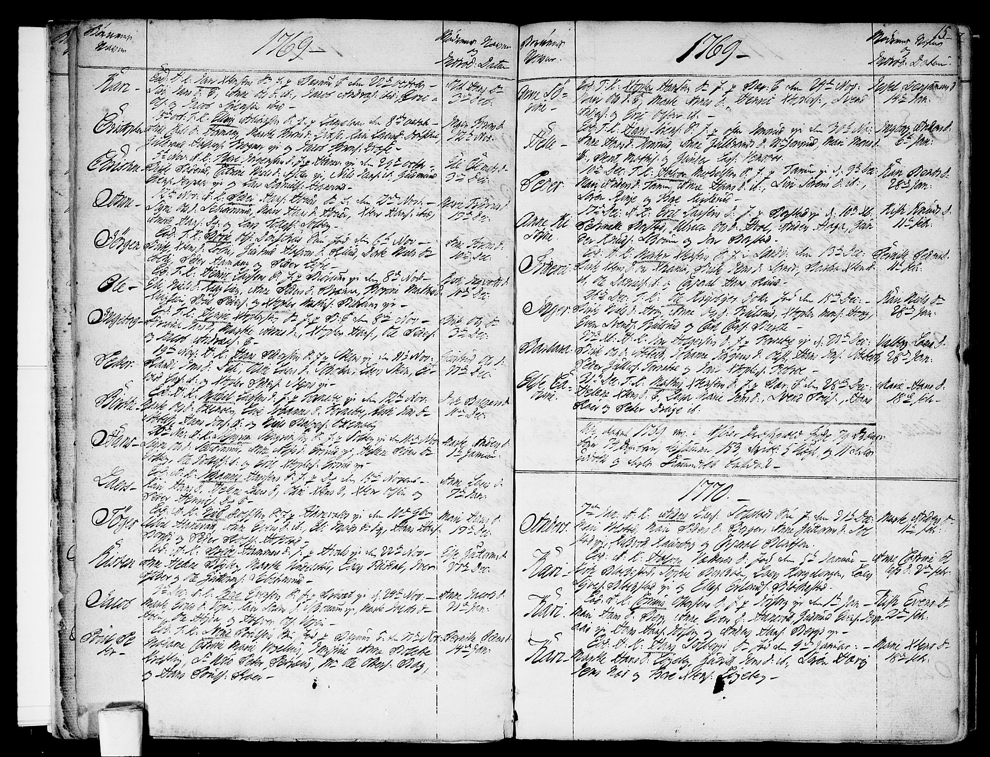SAO, Asker prestekontor Kirkebøker, F/Fa/L0003: Ministerialbok nr. I 3, 1767-1807, s. 15