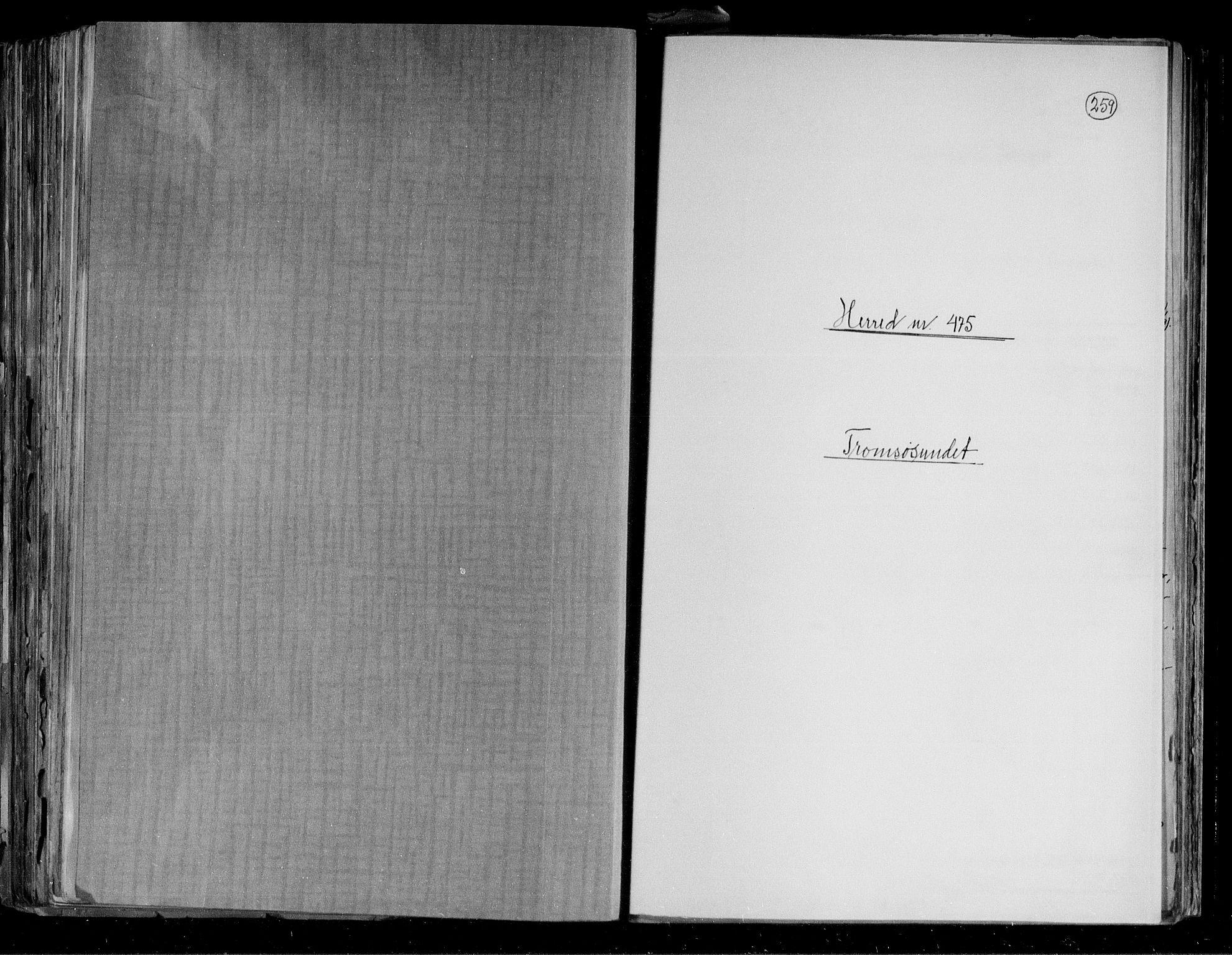 RA, Folketelling 1891 for 1934 Tromsøysund herred, 1891, s. 1