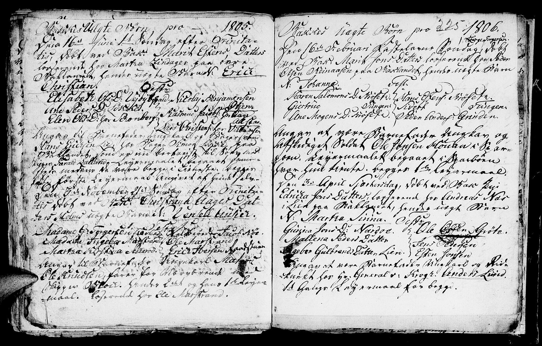 SAT, Ministerialprotokoller, klokkerbøker og fødselsregistre - Sør-Trøndelag, 604/L0218: Klokkerbok nr. 604C01, 1754-1819, s. 225
