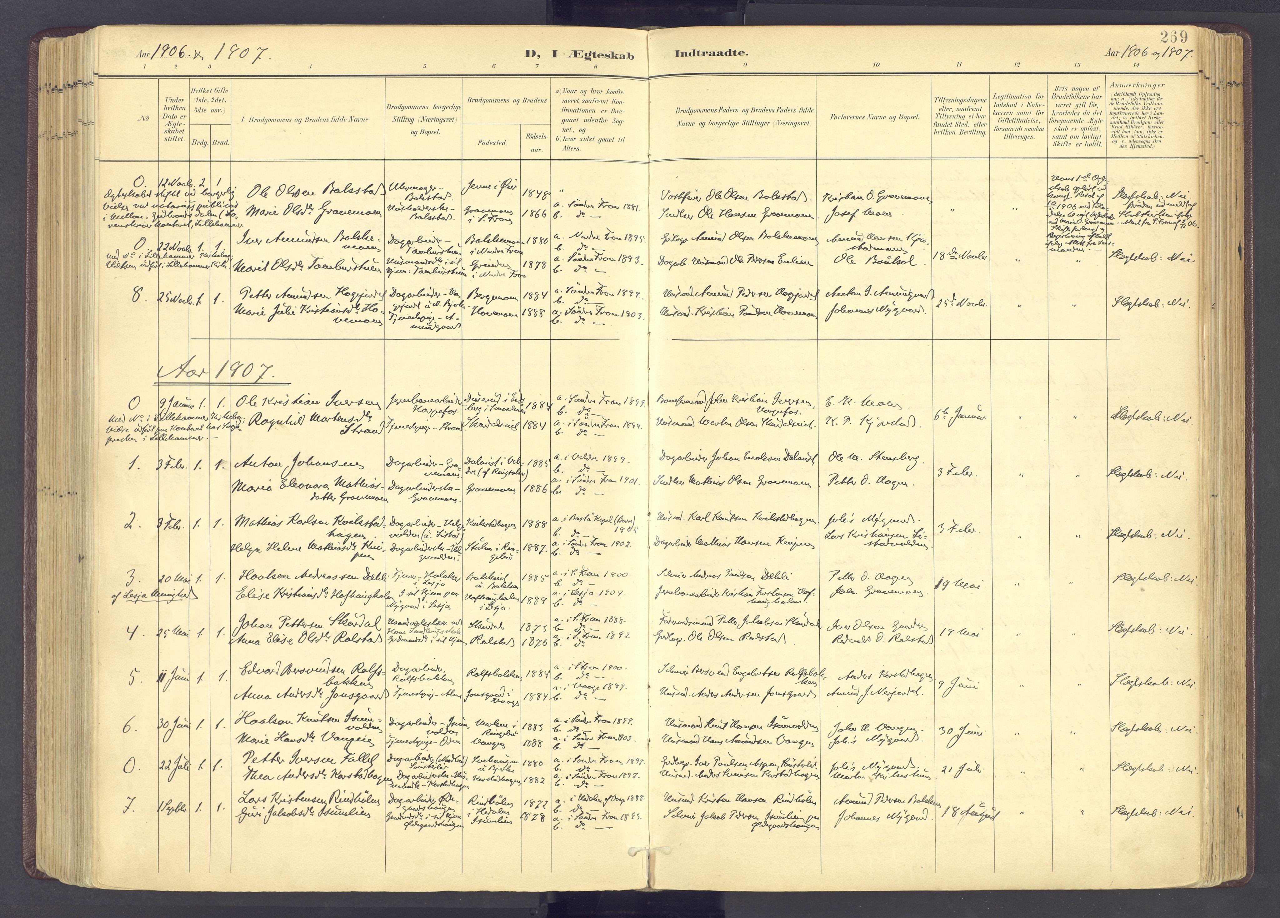 SAH, Sør-Fron prestekontor, H/Ha/Haa/L0004: Ministerialbok nr. 4, 1898-1919, s. 269