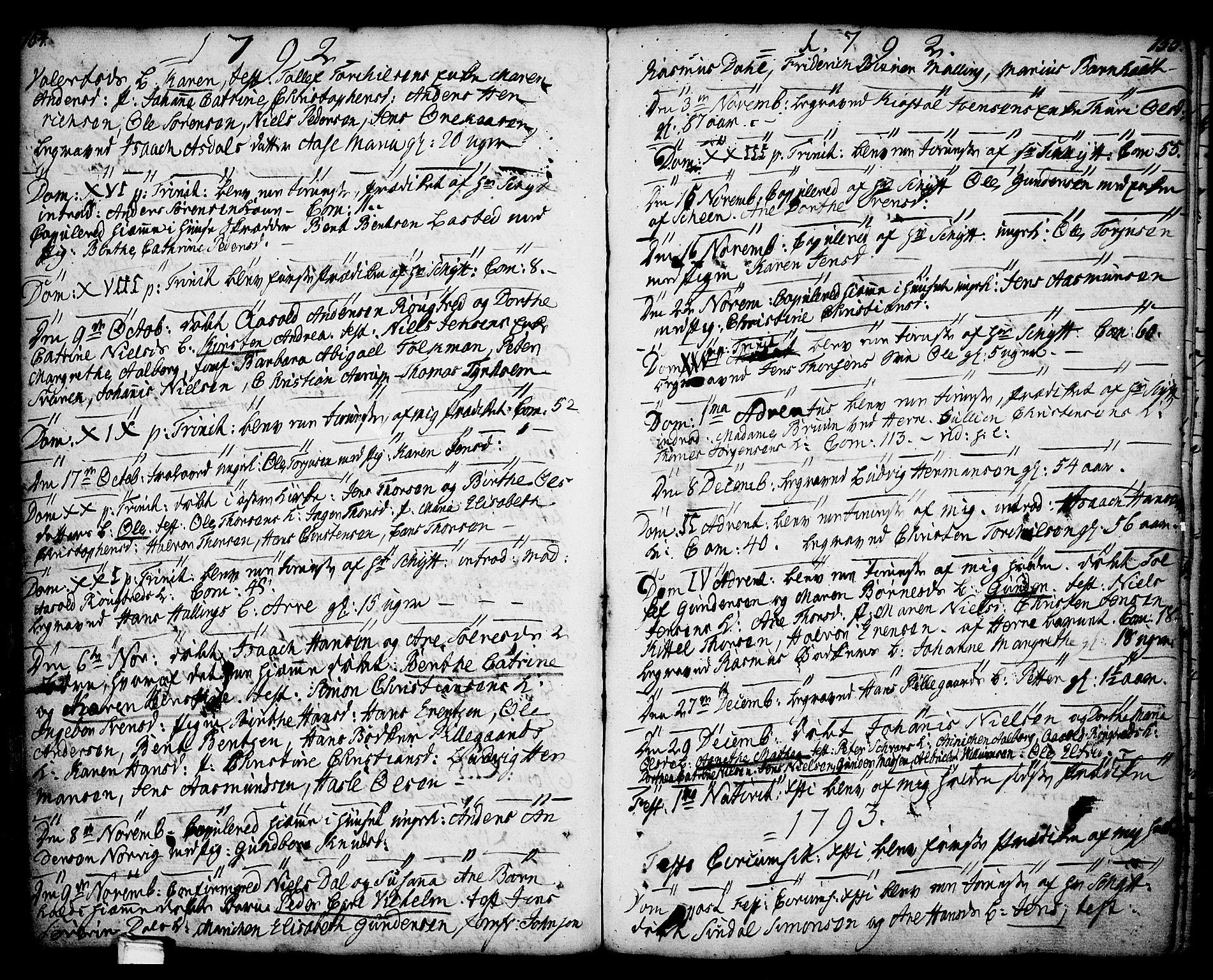 SAKO, Porsgrunn kirkebøker , F/Fa/L0001: Ministerialbok nr. 1, 1764-1814, s. 154-155