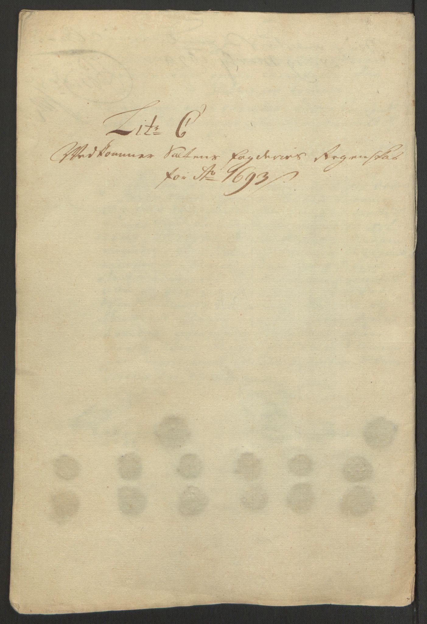 RA, Rentekammeret inntil 1814, Reviderte regnskaper, Fogderegnskap, R66/L4577: Fogderegnskap Salten, 1691-1693, s. 304