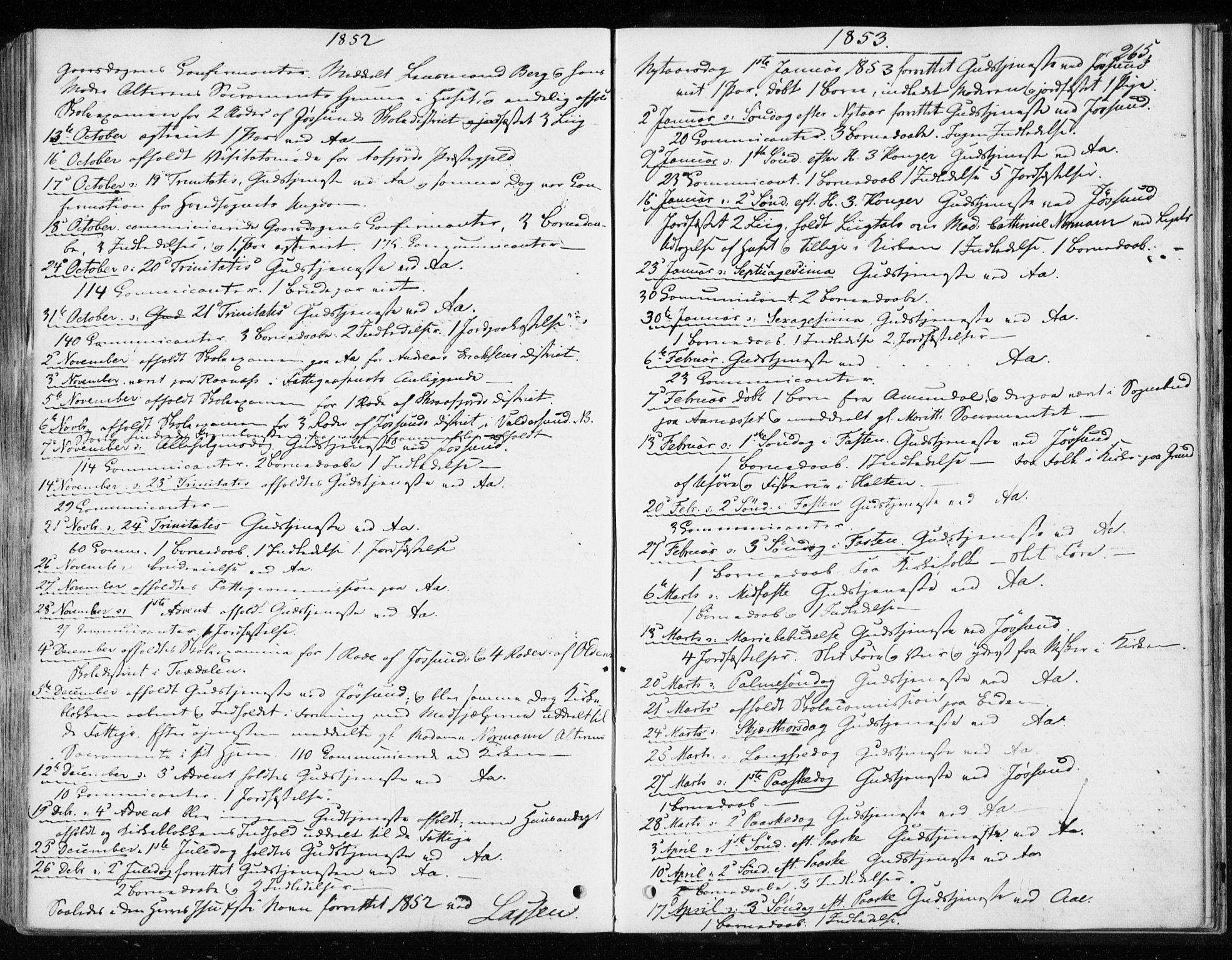SAT, Ministerialprotokoller, klokkerbøker og fødselsregistre - Sør-Trøndelag, 655/L0677: Ministerialbok nr. 655A06, 1847-1860, s. 265