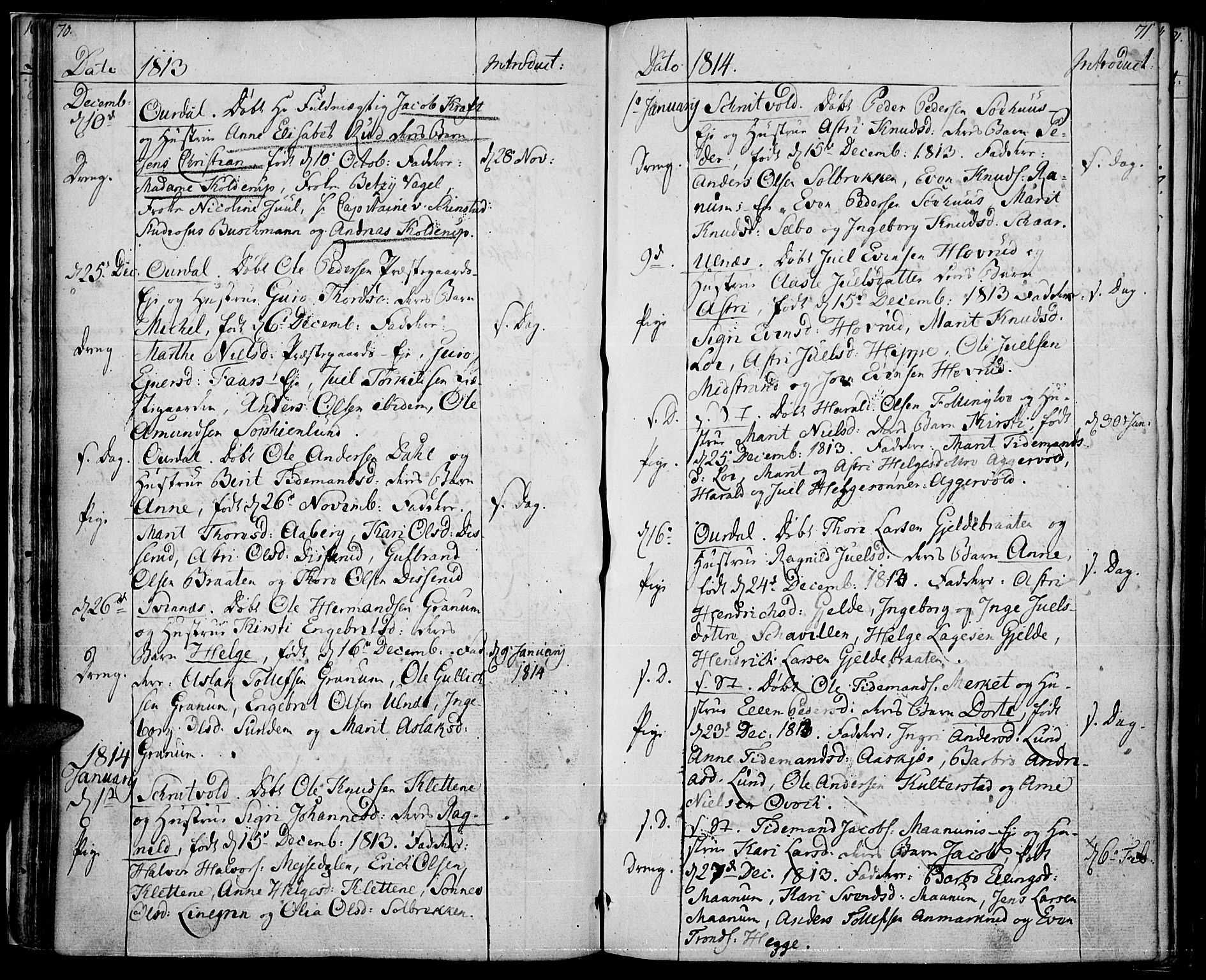 SAH, Nord-Aurdal prestekontor, Ministerialbok nr. 1, 1808-1815, s. 70-71
