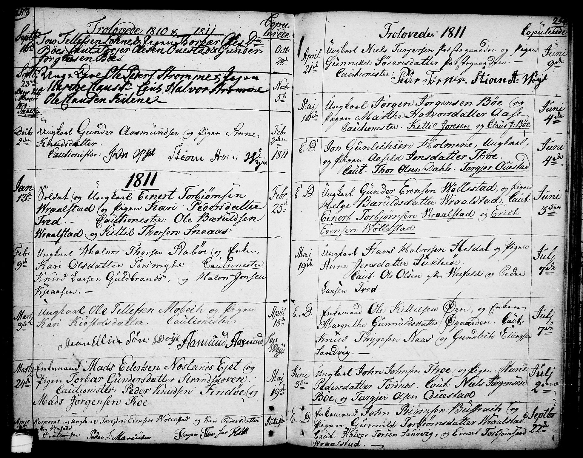 SAKO, Drangedal kirkebøker, F/Fa/L0003: Ministerialbok nr. 3, 1768-1814, s. 253-254